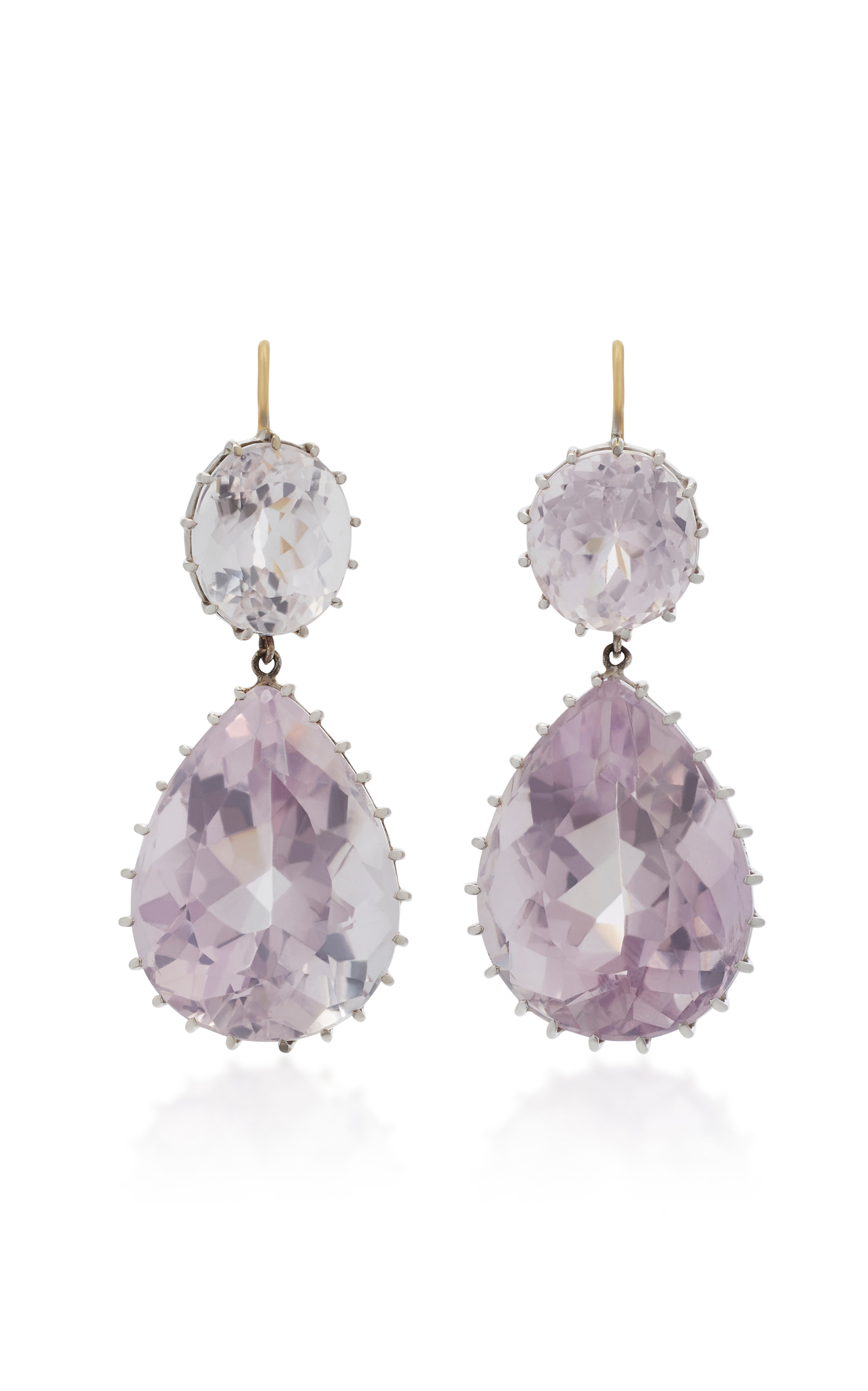discovered aquamarine raw goods amet kunzite earrings