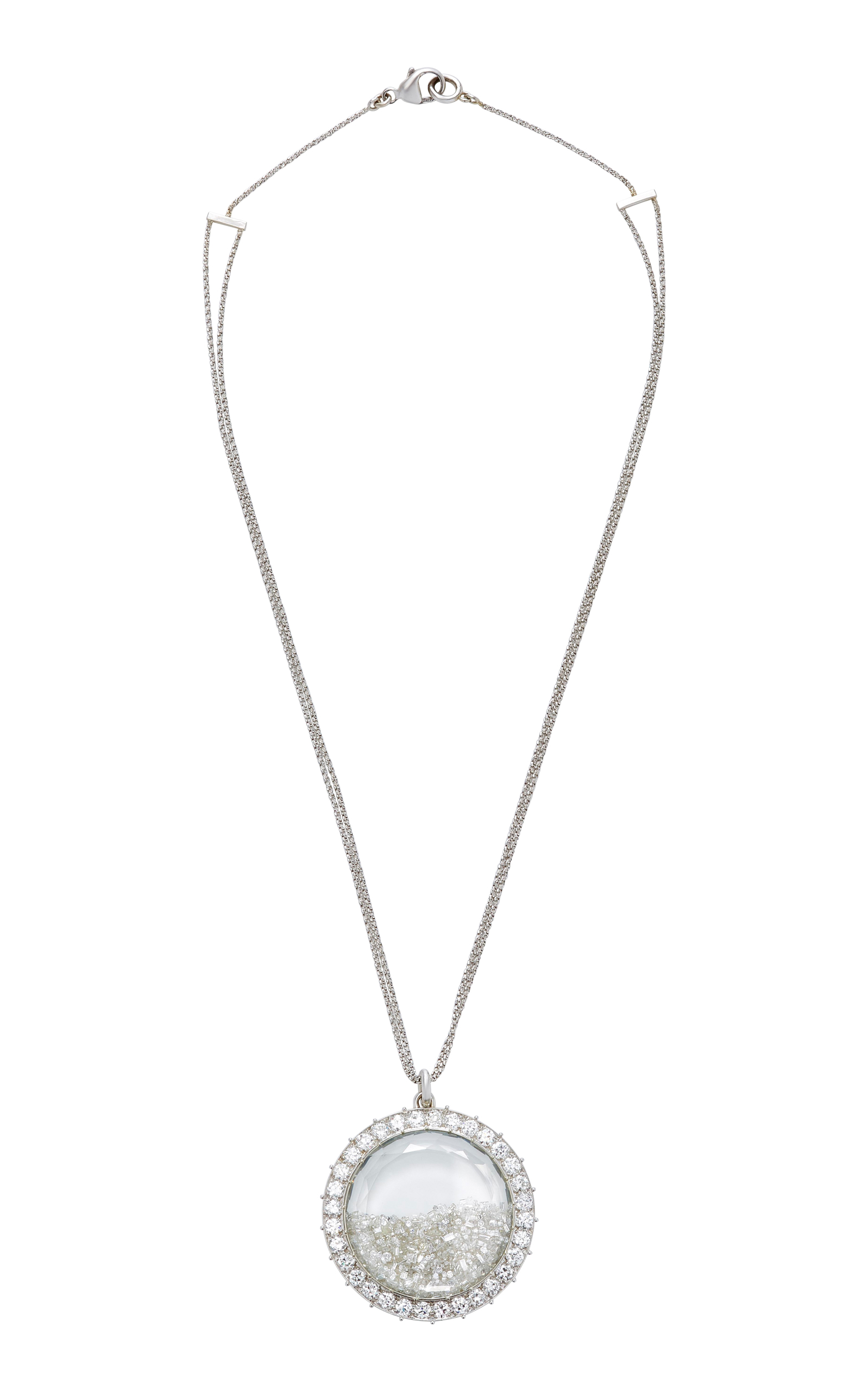 with zirconia finish square cubic sterling platinum in silver crislu necklace