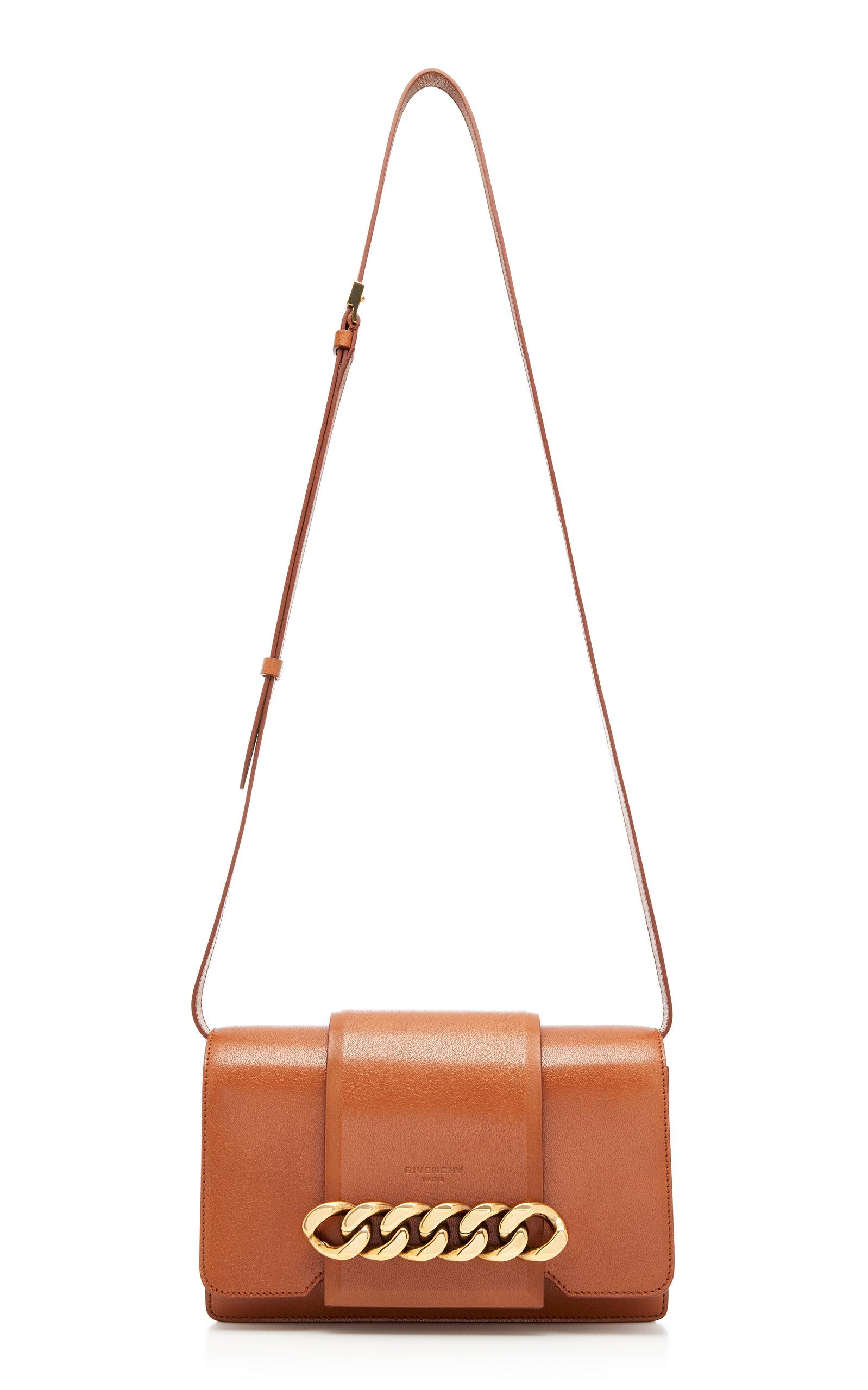 08c8891345 GivenchyInfinity Chain-Trimmed Leather Shoulder Bag. CLOSE. Loading. Loading