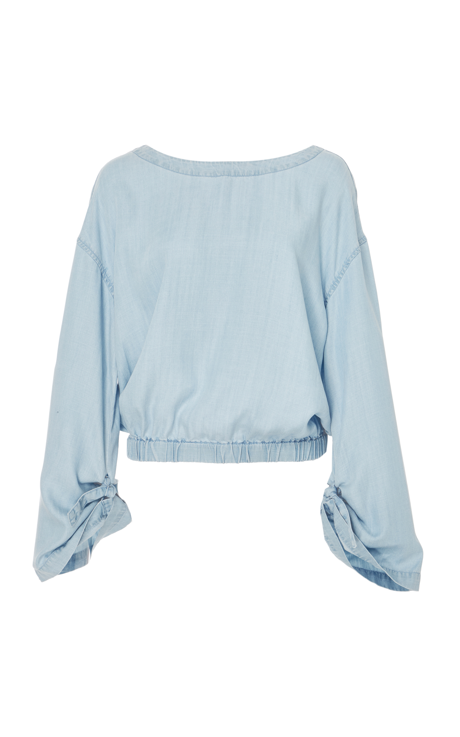 57f8698f79 Cinched Denim Chambray Top by FRAME
