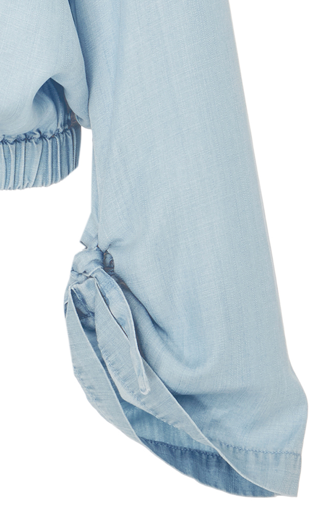 17cfb08175 FRAME Cinched Denim Chambray Top. CLOSE. Loading. Loading. Loading