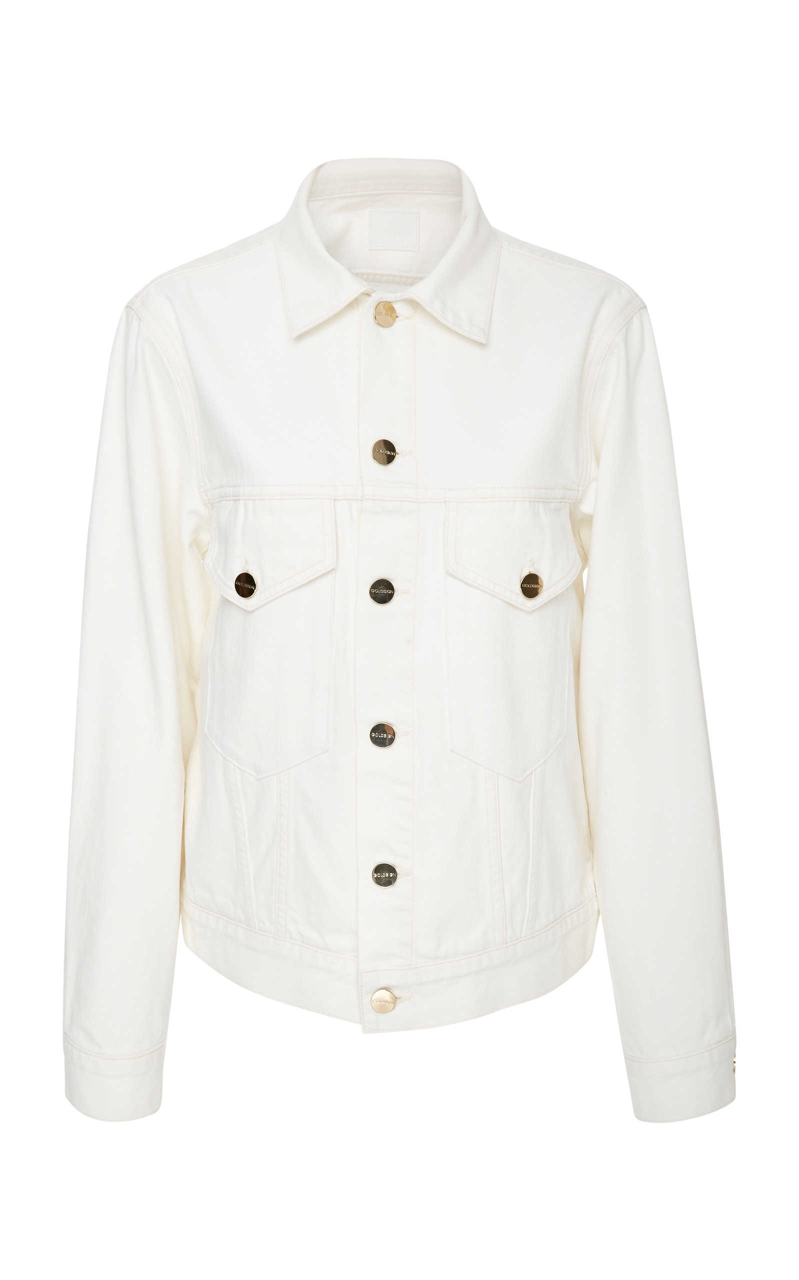 PATCH POCKET PEARL WHITE DENIM JACKET