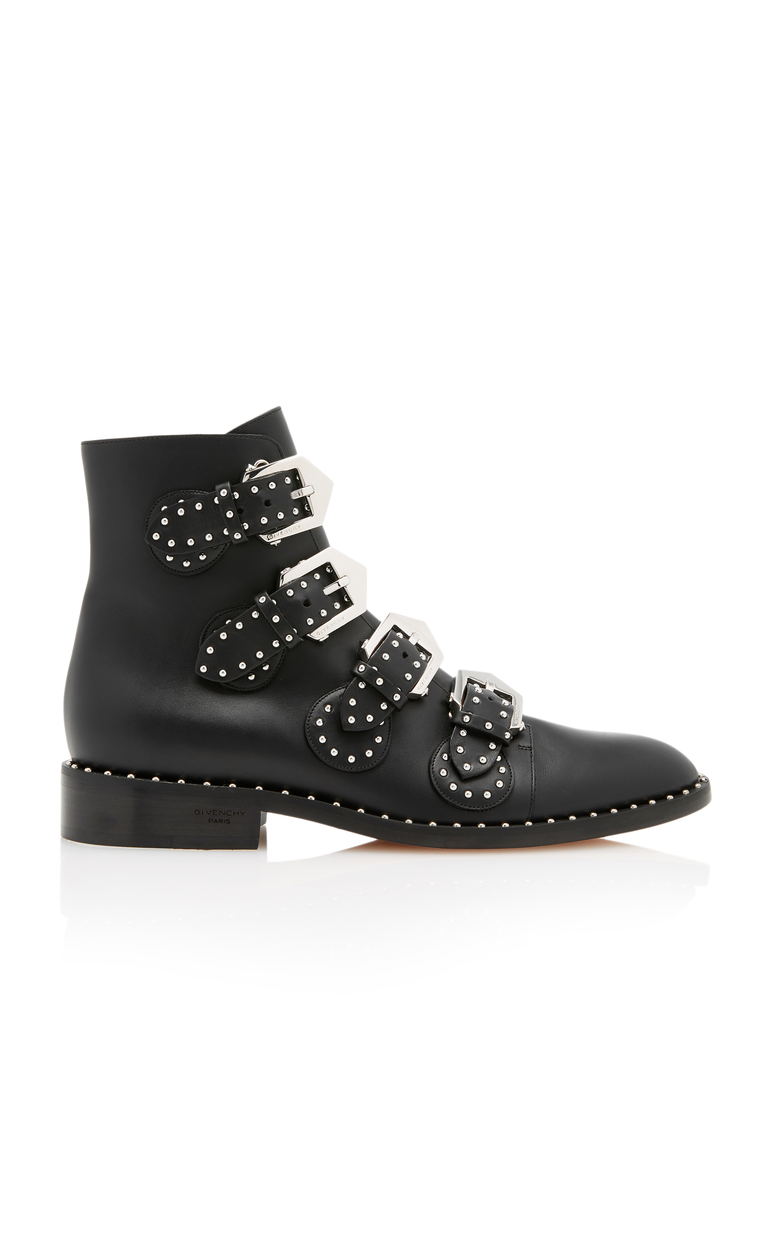 Givenchy Boots STUDDED LEATHER ANKLE BOOTS SIZE: 40.5