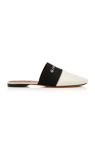 GIVENCHY   Givenchy Flat Leather Mules   Goxip