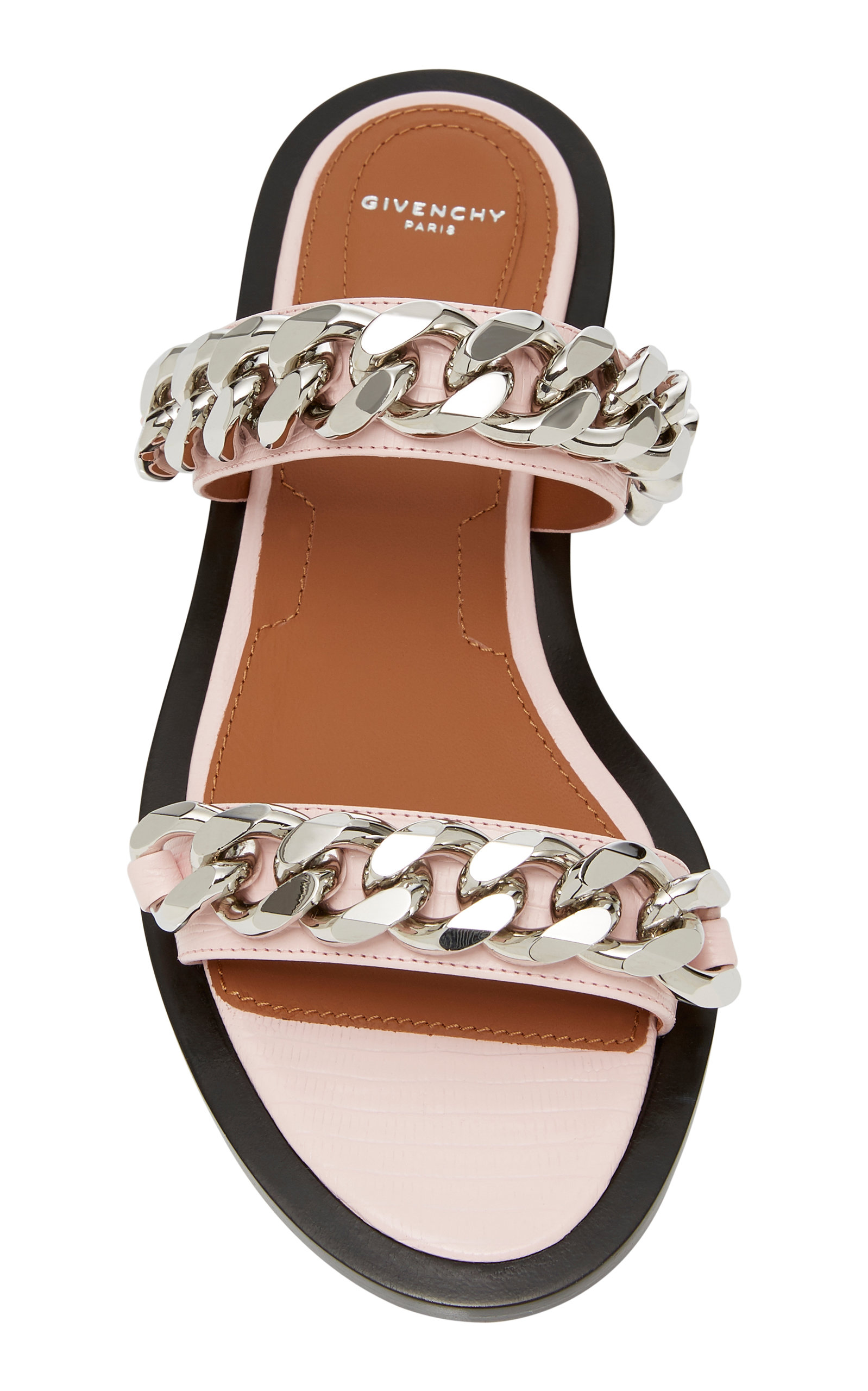 Chain-Trimmed Stamped Lizard Leather Sandals Givenchy 64ntuc