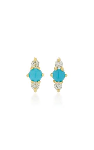 Zephyr 14K Gold Turquoise Earrings Ila n7XV0a