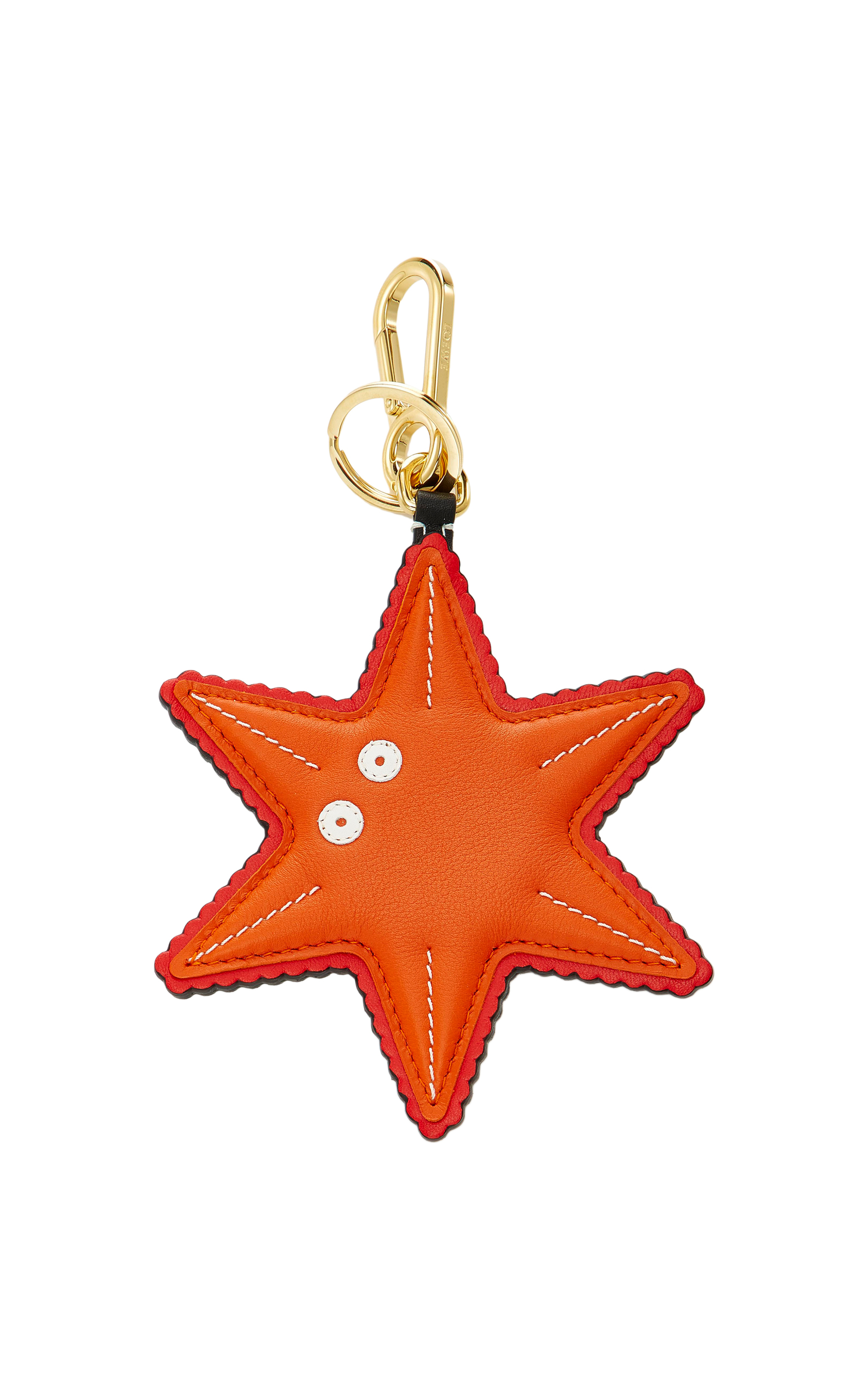 Loewe Leather Starfish Charm Key Ring In Orange  deb5dfbdee13