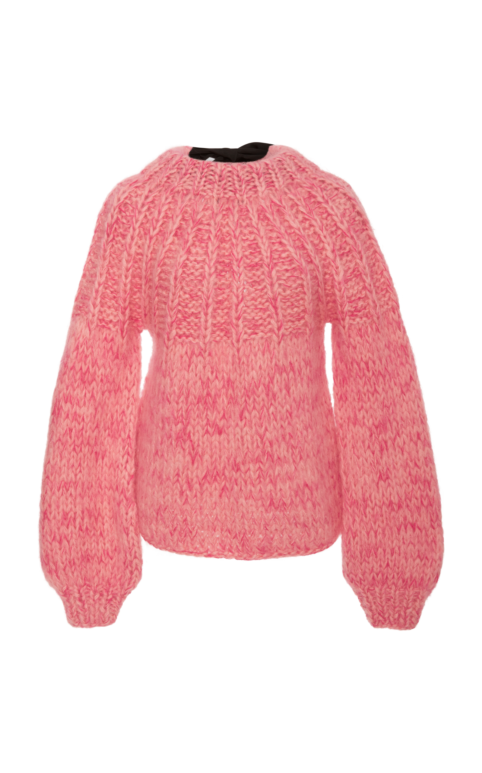 JULLIARD BOW-EMBELLISHED MOHAIR AND WOOL-BLEND SWEATER
