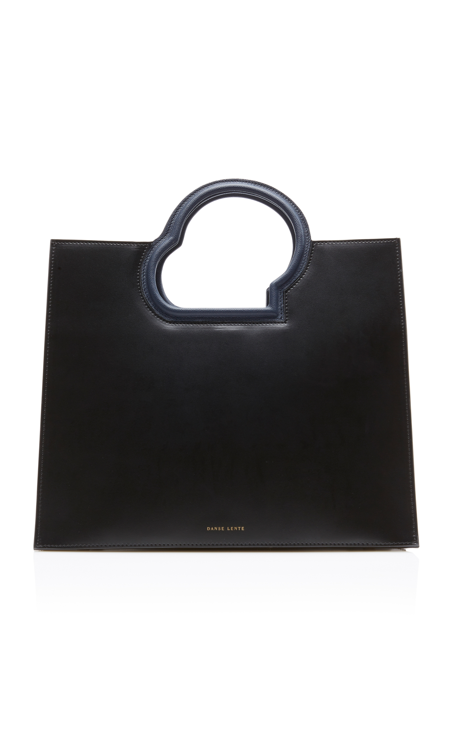 DANSE LENTE Nour Leather Tote in Black