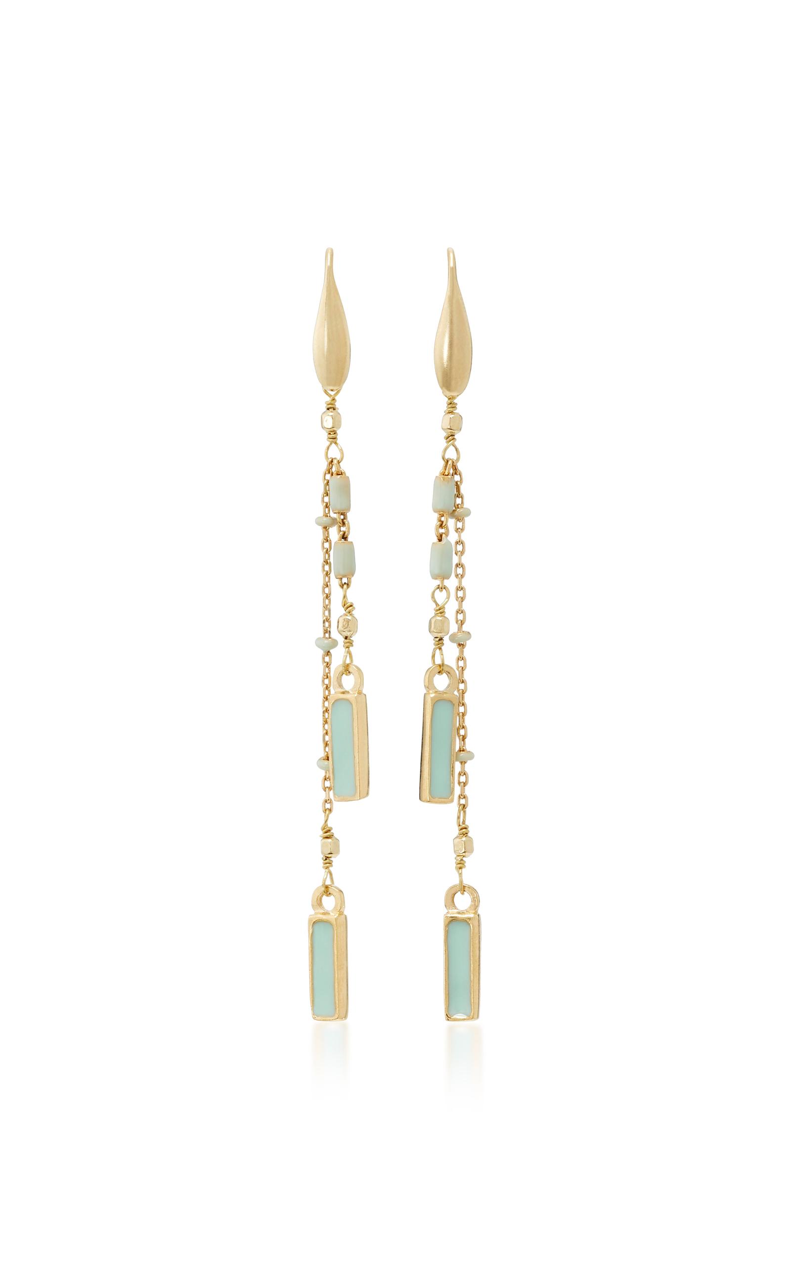 164aa4478d Gold-Tone Brass, Resin and Tin Earrings by Isabel Marant | Moda Operandi