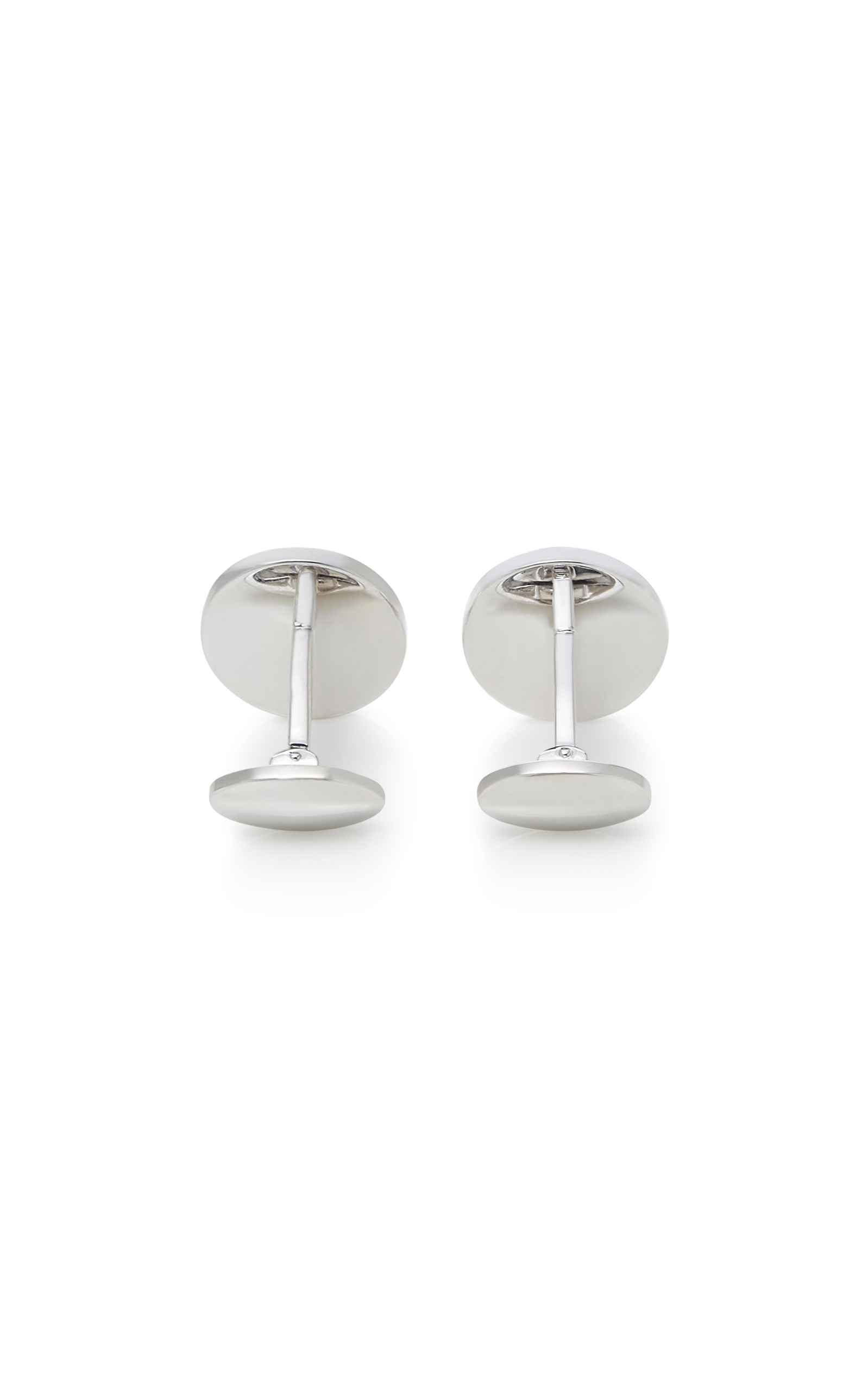 Discount In China With Paypal Cheap Price Round Onyx Screw Sterling Silver Cufflinks Jan Leslie GiEfMK