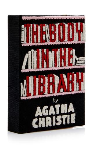 Embrague Book The Le Body bordado tan Library Olympia In 1wq7qtnI