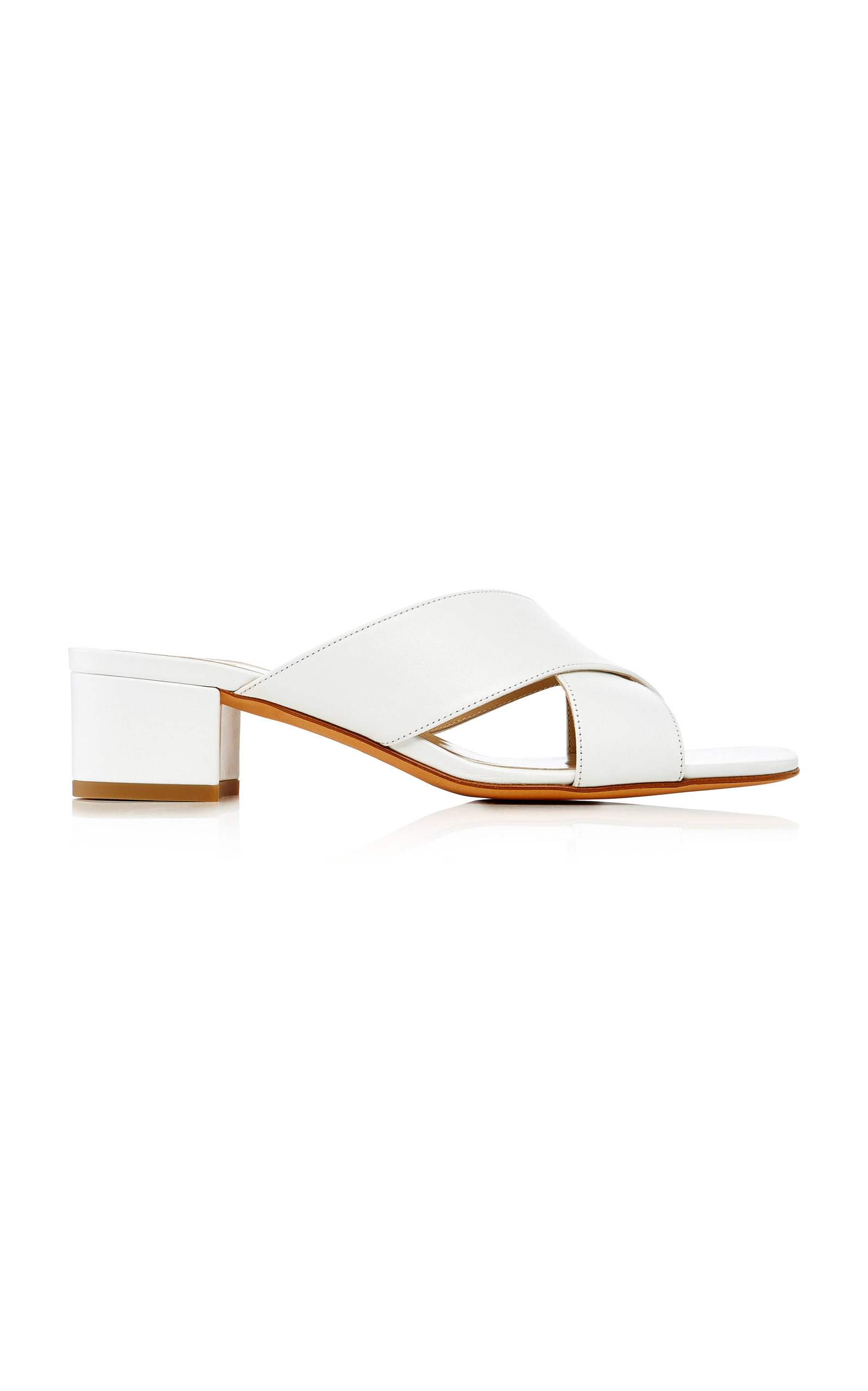 MARYAM NASSIR ZADEH Lauren Patent-Leather Slides