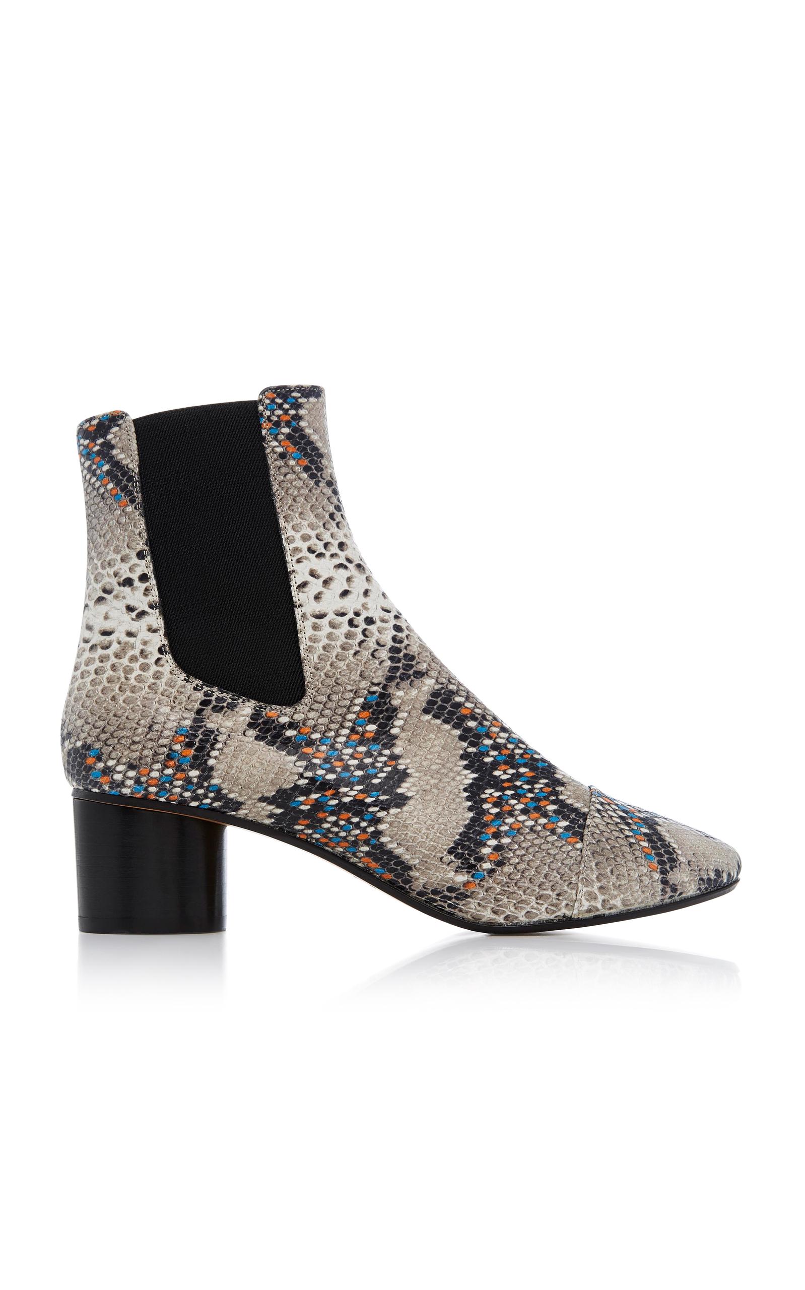 Isabel Marantsnakeskin effect ankle boots Acheter Pas Cher Pour Pas Cher Boutique En Vente Vente Discount Pas Cher Best-seller En Ligne Mode En Ligne 9JWU7aRD