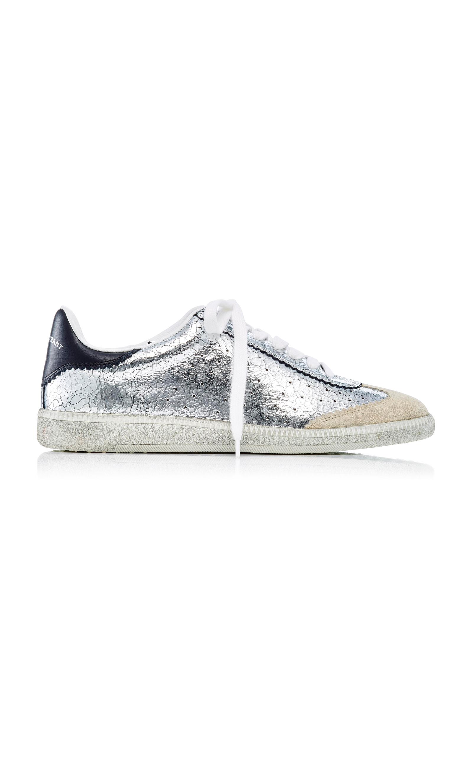 569245f5c1 Bryce Metallic Leather Sneakers by Isabel Marant | Moda Operandi