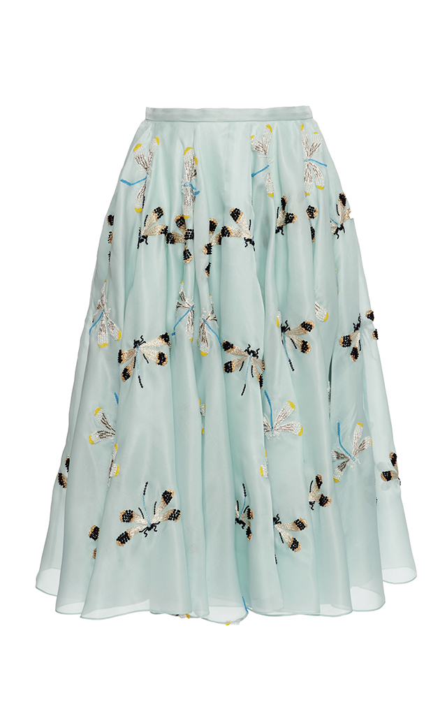 Embroidered Organza Skirt Rochas Clearance Hot Sale 81I3vAlYx6