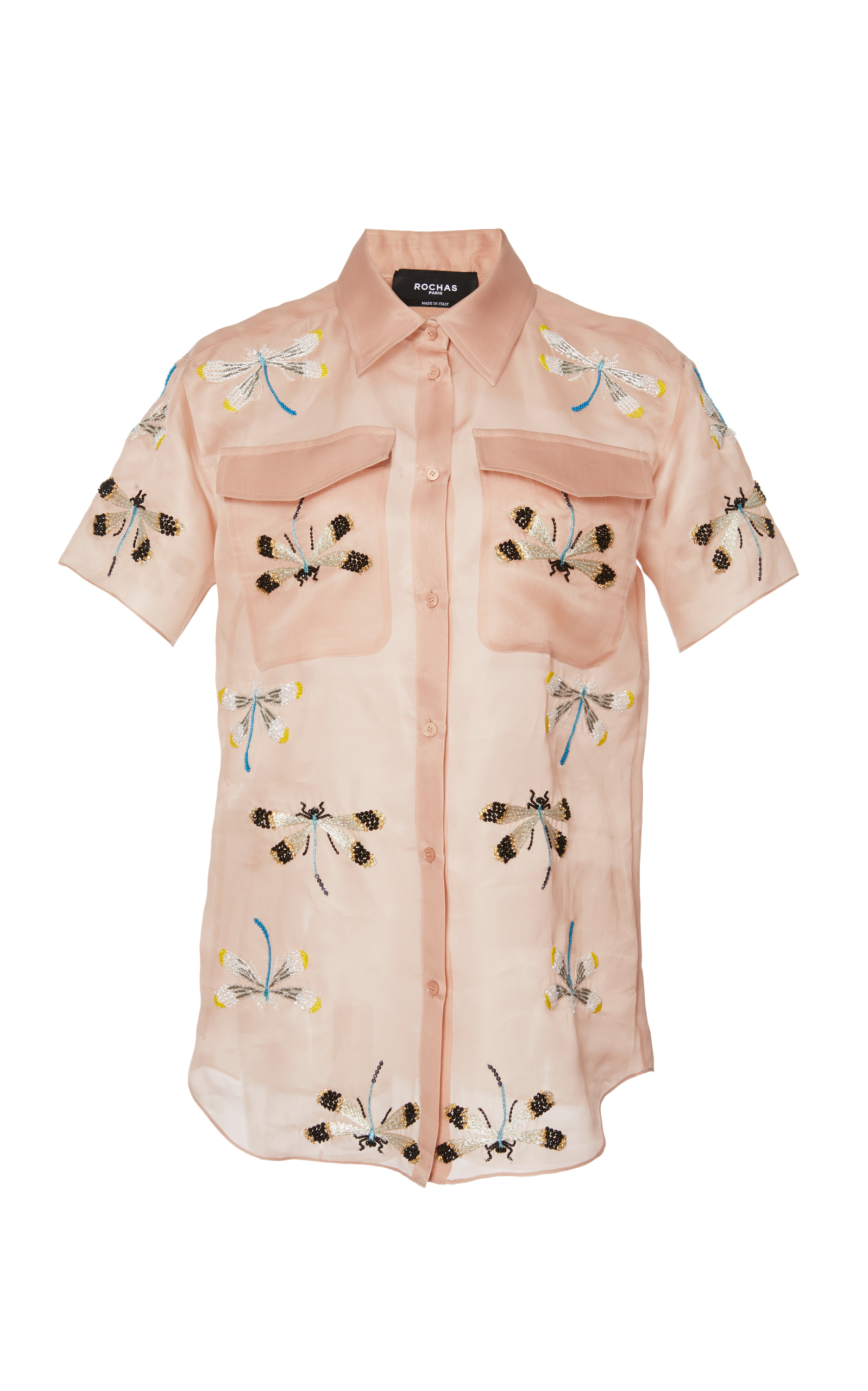 embroidered dragonfly shirt - Pink & Purple Rochas Purchase Cheap Online Outlet 100% Guaranteed Free Shipping Manchester Great Sale Clearance For Cheap Largest Supplier Cheap Online VUf6FHl