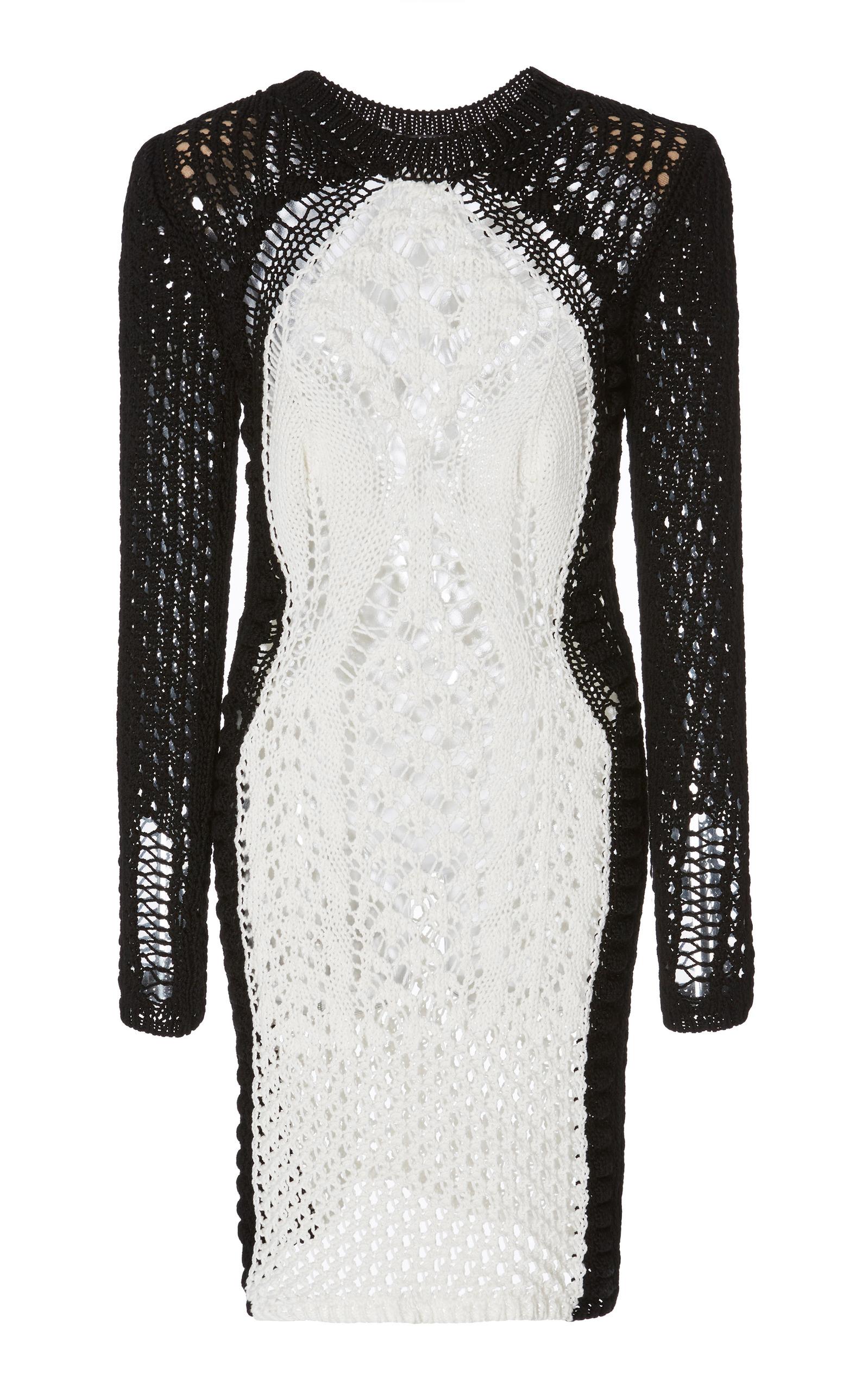 891de1a44a Crochet Mini Dress by Balmain   Moda Operandi