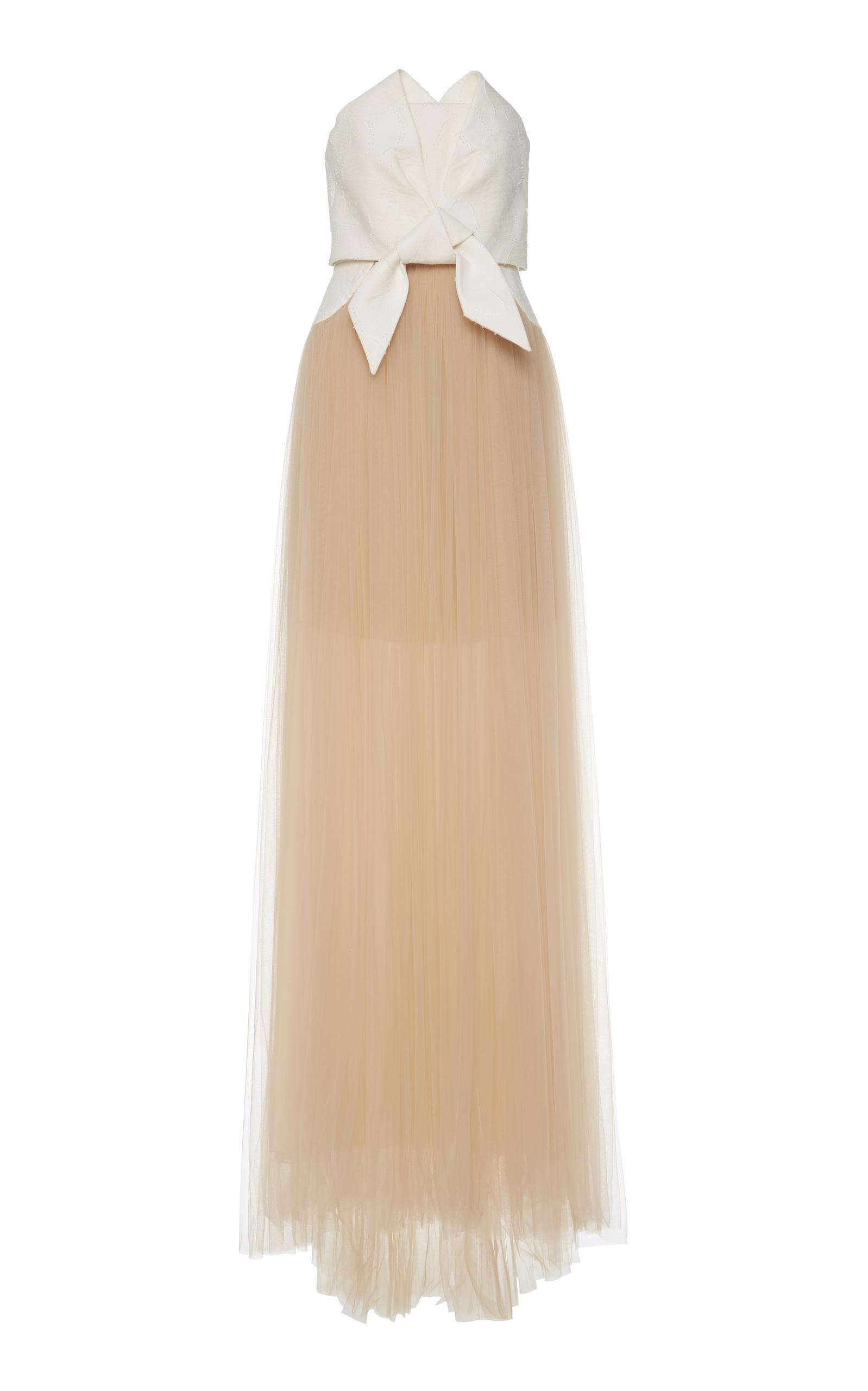 ce275a1c1c1 Tulle Fil Coupé Gown by DELPOZO