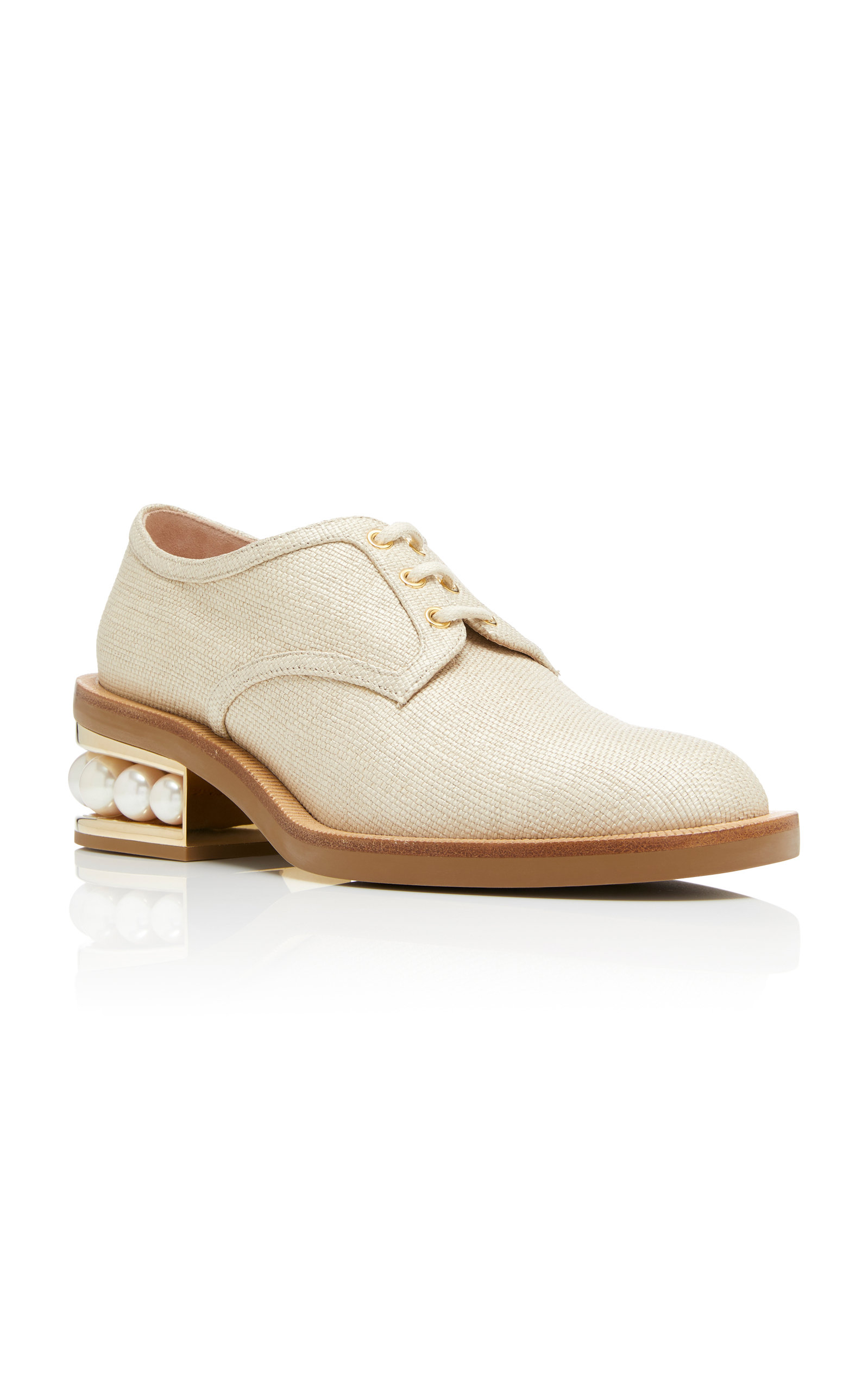 Pearl-Trimmed Woven Derby Shoes Nicholas Kirkwood Outlet Locations Cheap Online Buy Cheap Best Seller Clearance New Arrival xhIVN9vPE4