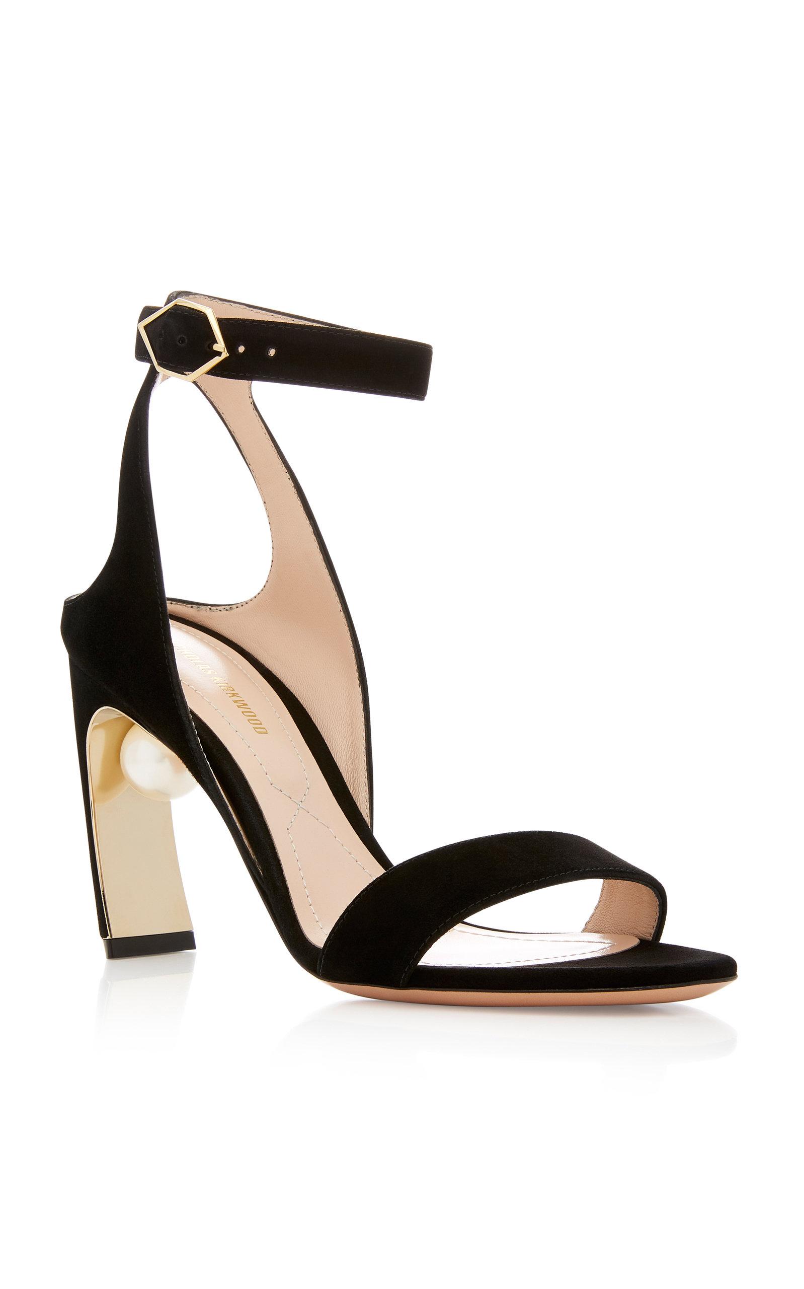 Nicholas Kirkwood Lola Pearl-Embellished Suede Sandals wCf2aM