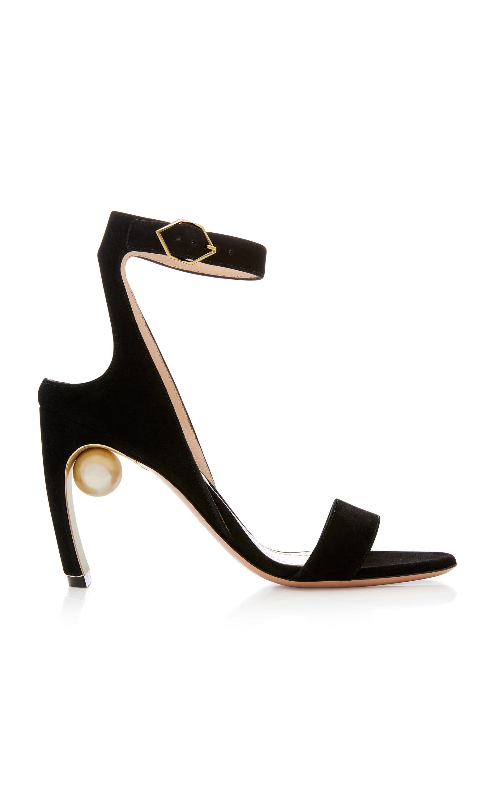 Nicholas Kirkwood Lola Metallic Leather Pearl Sandals Gr. IT 41 MxvJCV