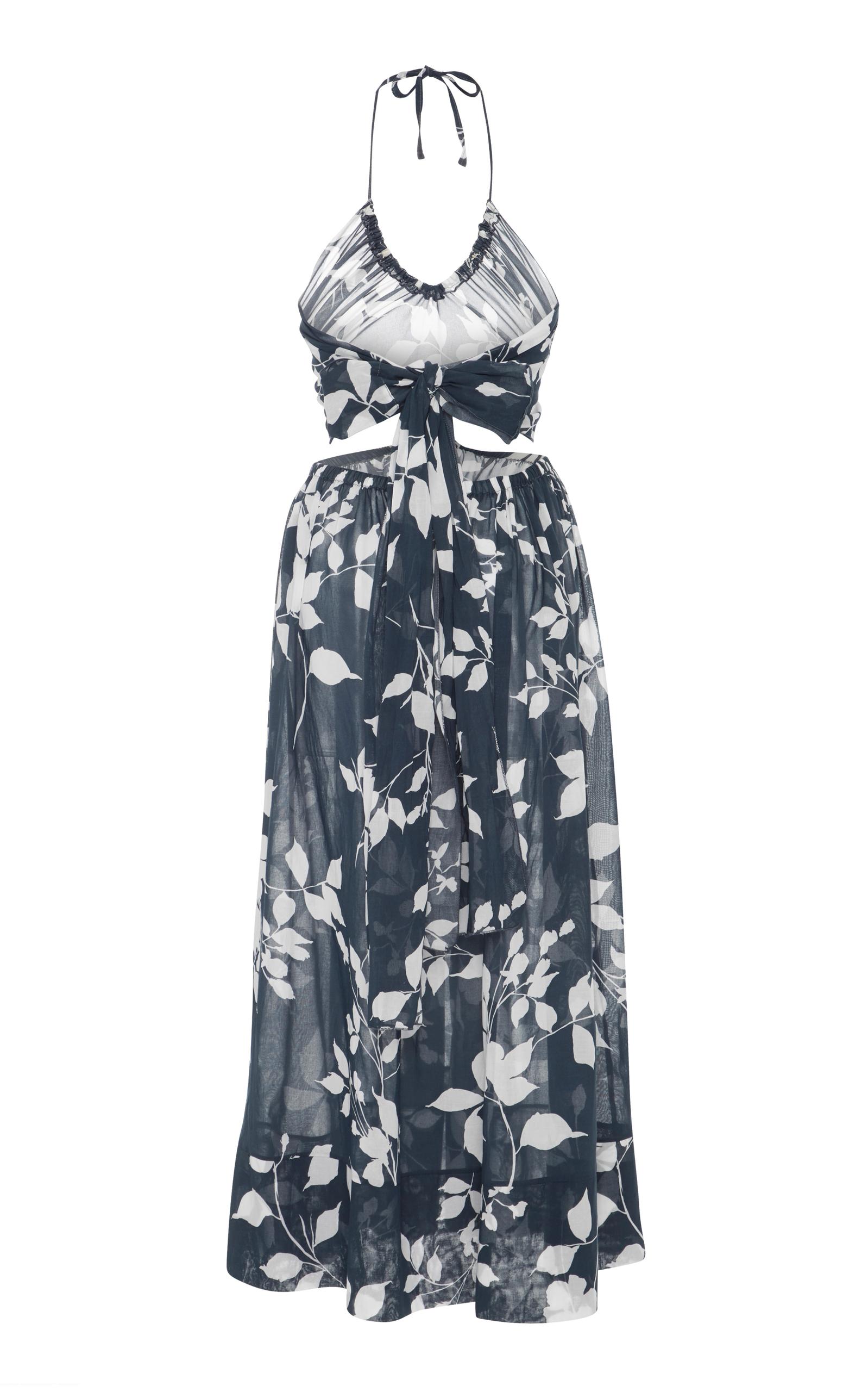Ruched Floral Midi Dress Lila.Eug ZRh4IyYUbF