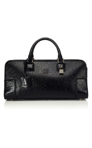 Medium loewe black amazona satchel