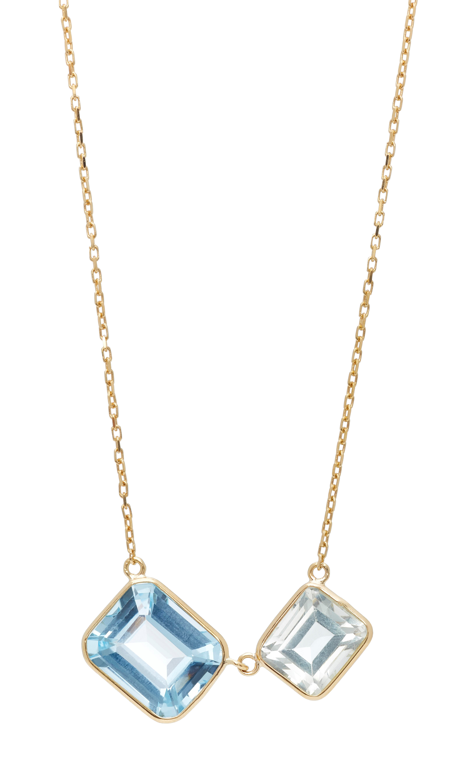 18K Gold Topaz Necklace Yi Collection ooLHH8d