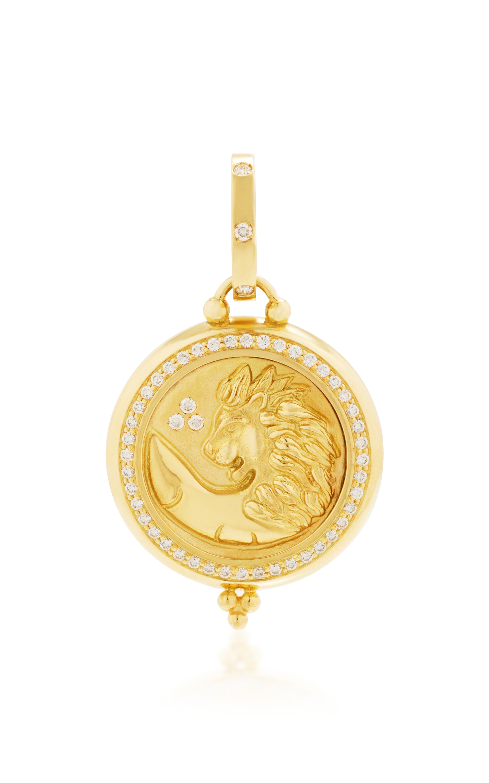 pendant quarter gold chain versace necklace disk versus lion garment head