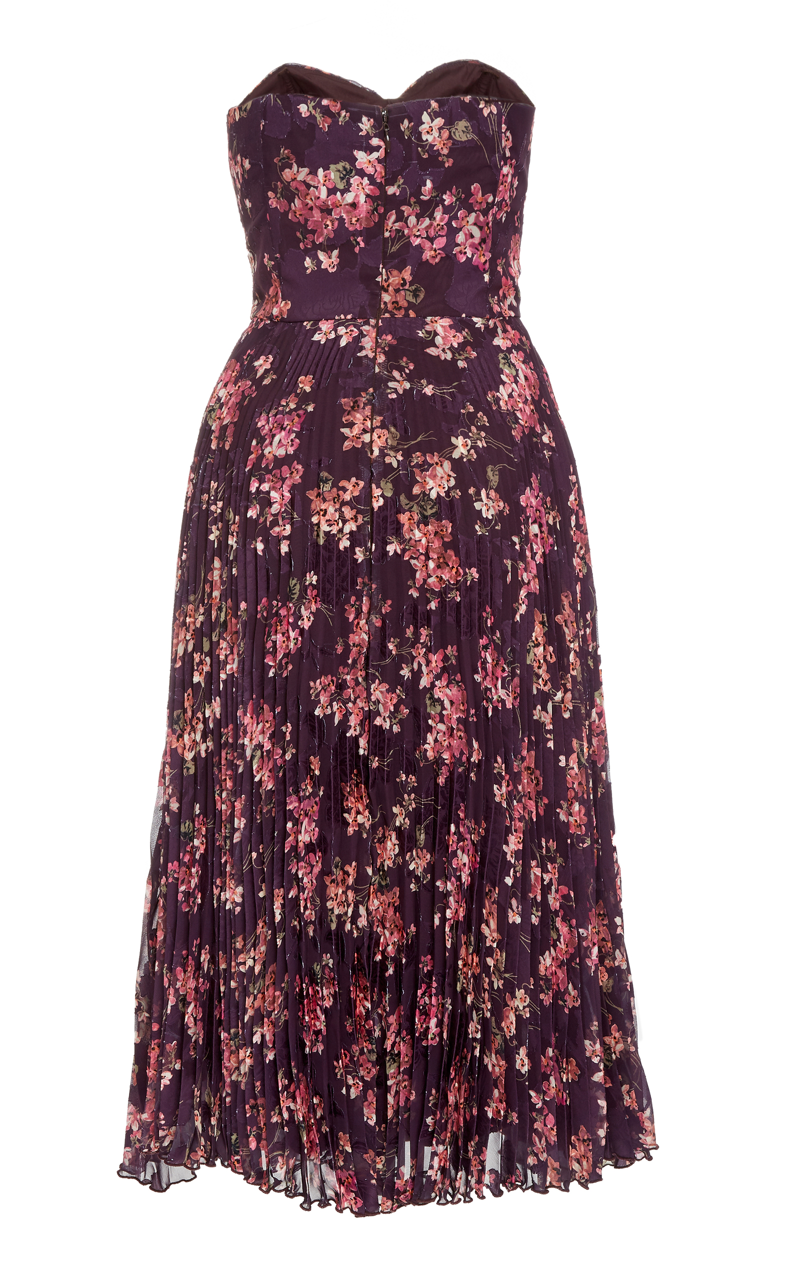 7bce6ed6acc Violets Jacquard Strapless Dress by Anna Sui