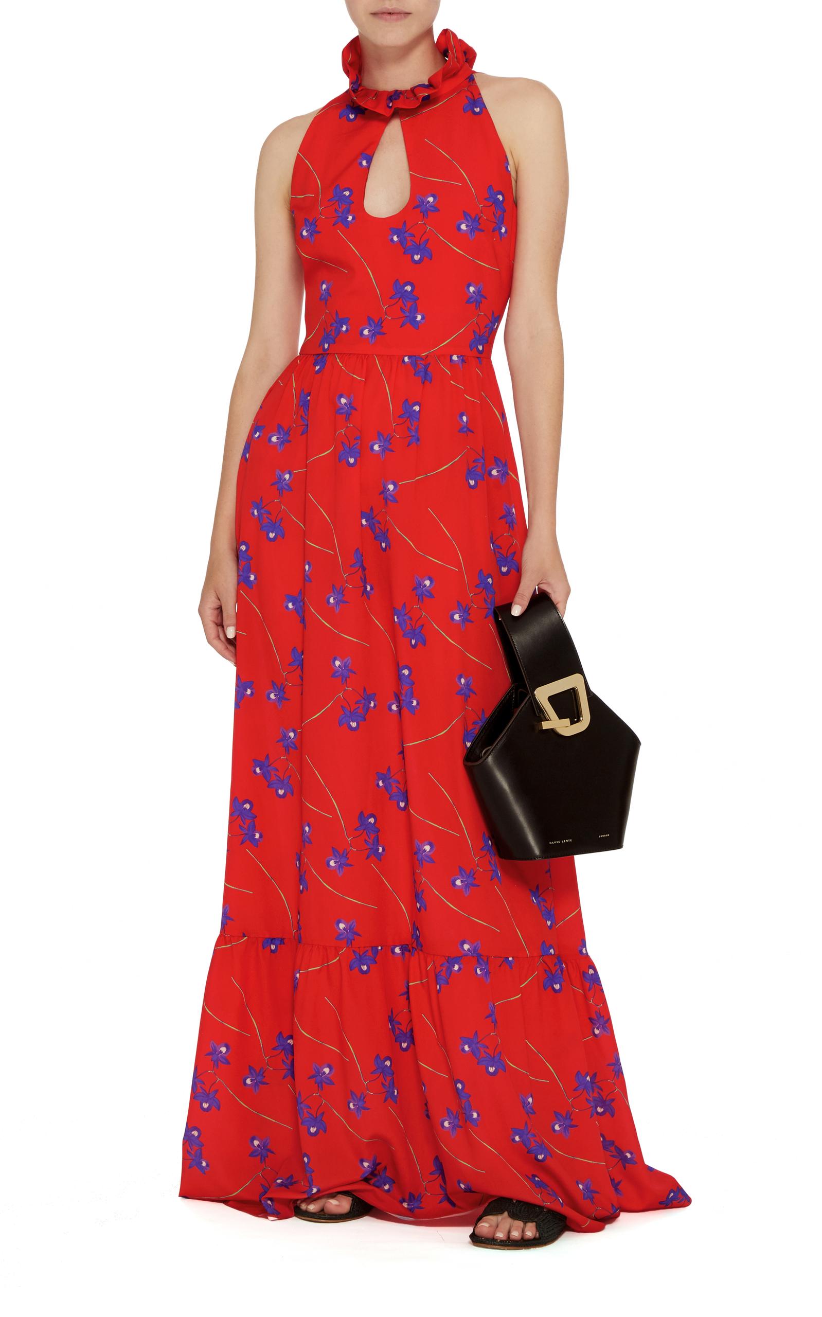 Leonora Frill Collar Dress Borgo De Nor oXFK02