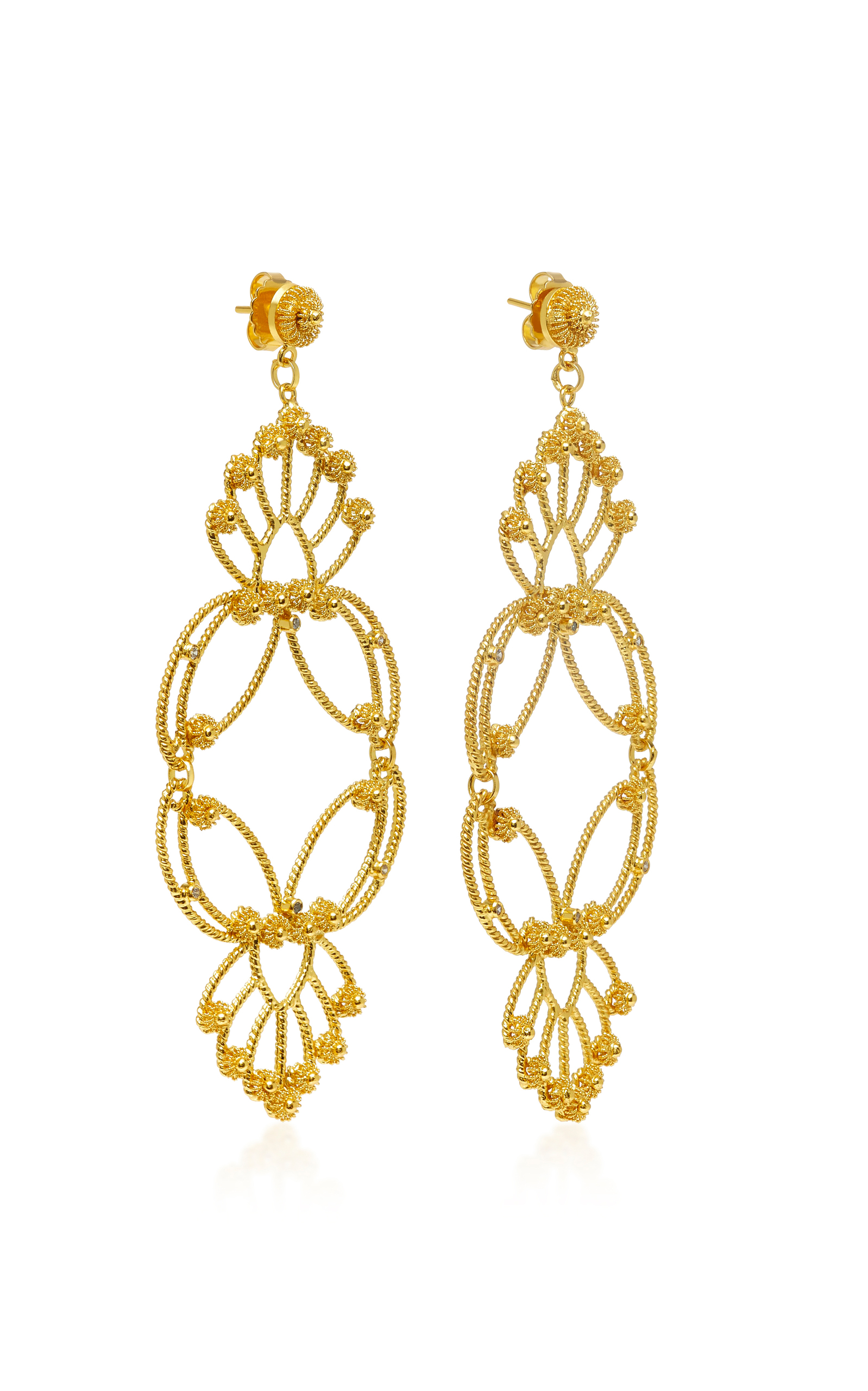jewellery earrings peony gold k ksvhs brass plated beautiful