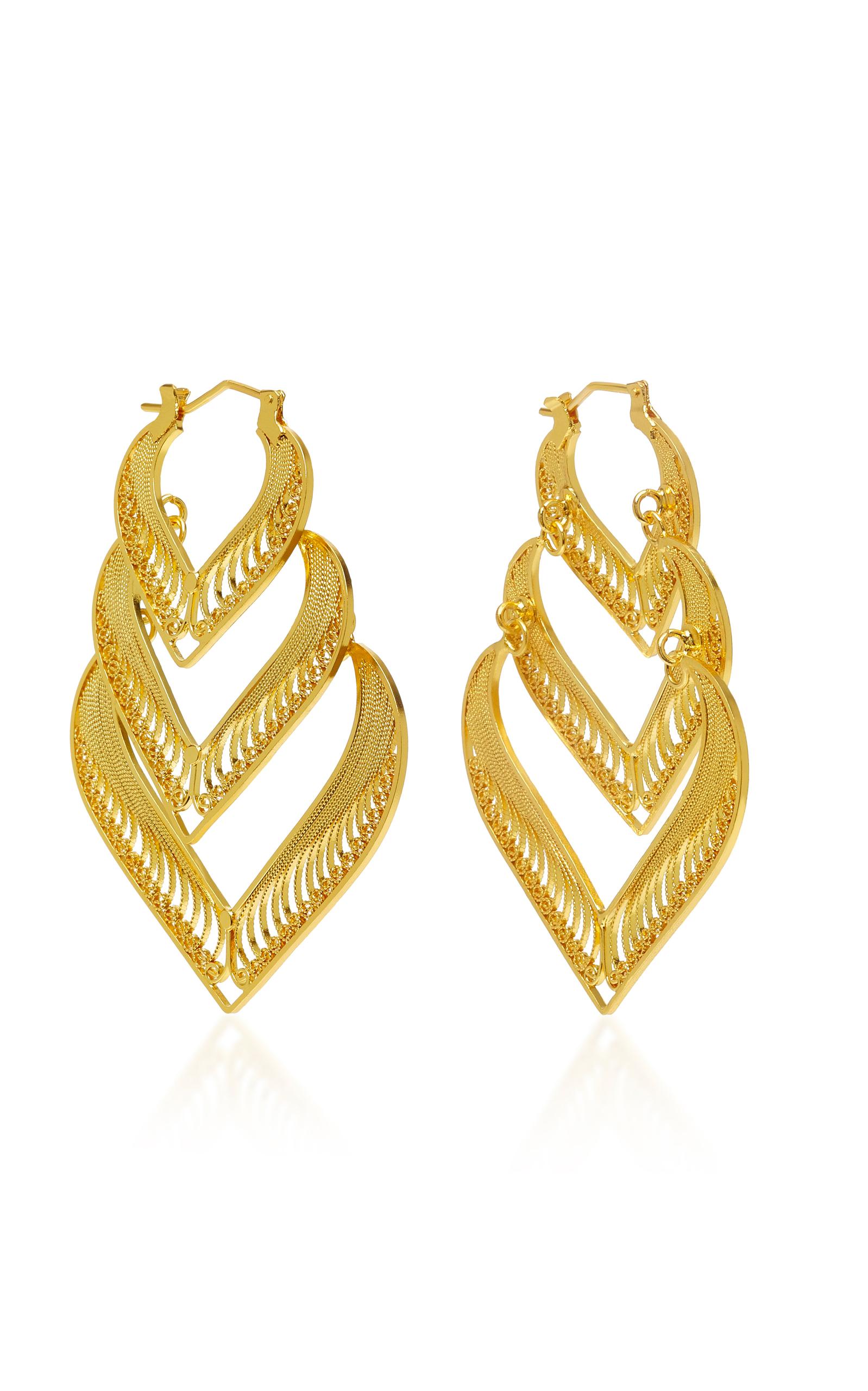 MALLARINO KORA STERLING SILVER AND 24K GOLD VERMEIL EARRINGS