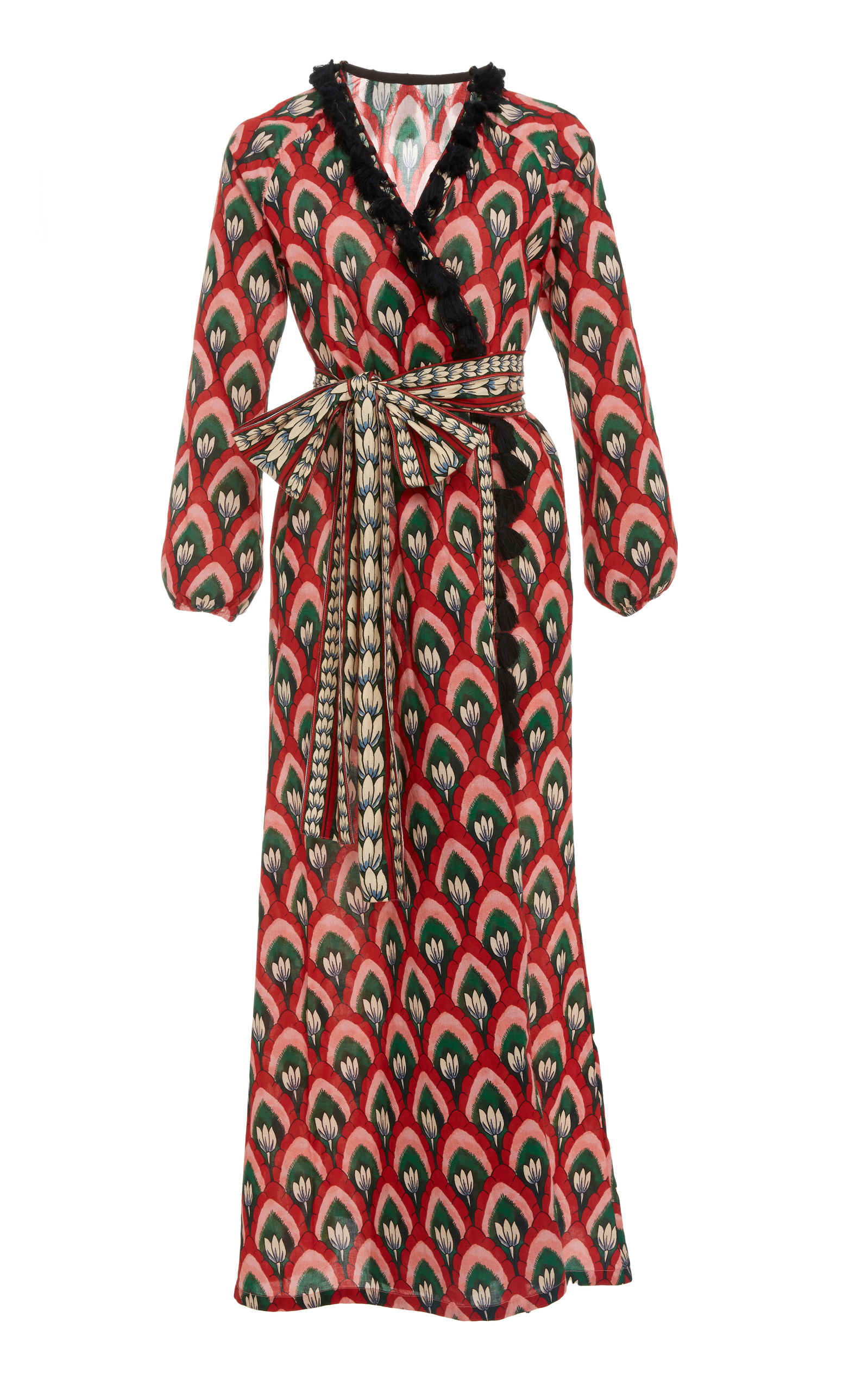 Lena Tassled Wrap Dress Rhode Resort Outlet Good Selling Cheap Cost Amazing View Sale Online tzZAxwvr3
