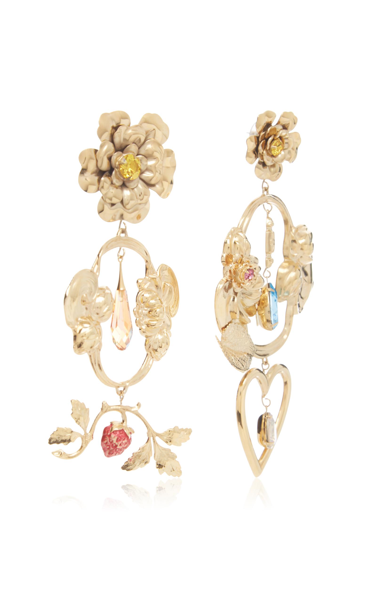Gold-plated dangle heart earrings Rodarte 5ukMhfHzM