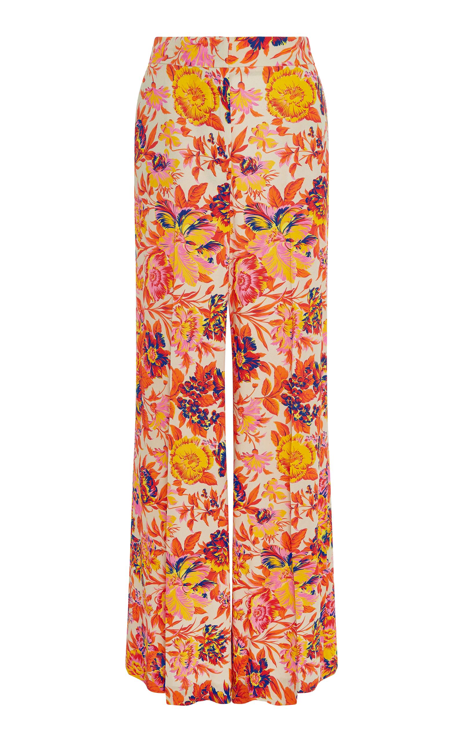 Jungle Floral Impression Pantalon Jambe Droite Msgm o90GpQ