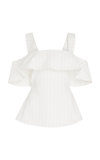 d7cf320698c49d Christian SirianoPin Stripe Off The Shoulder Top
