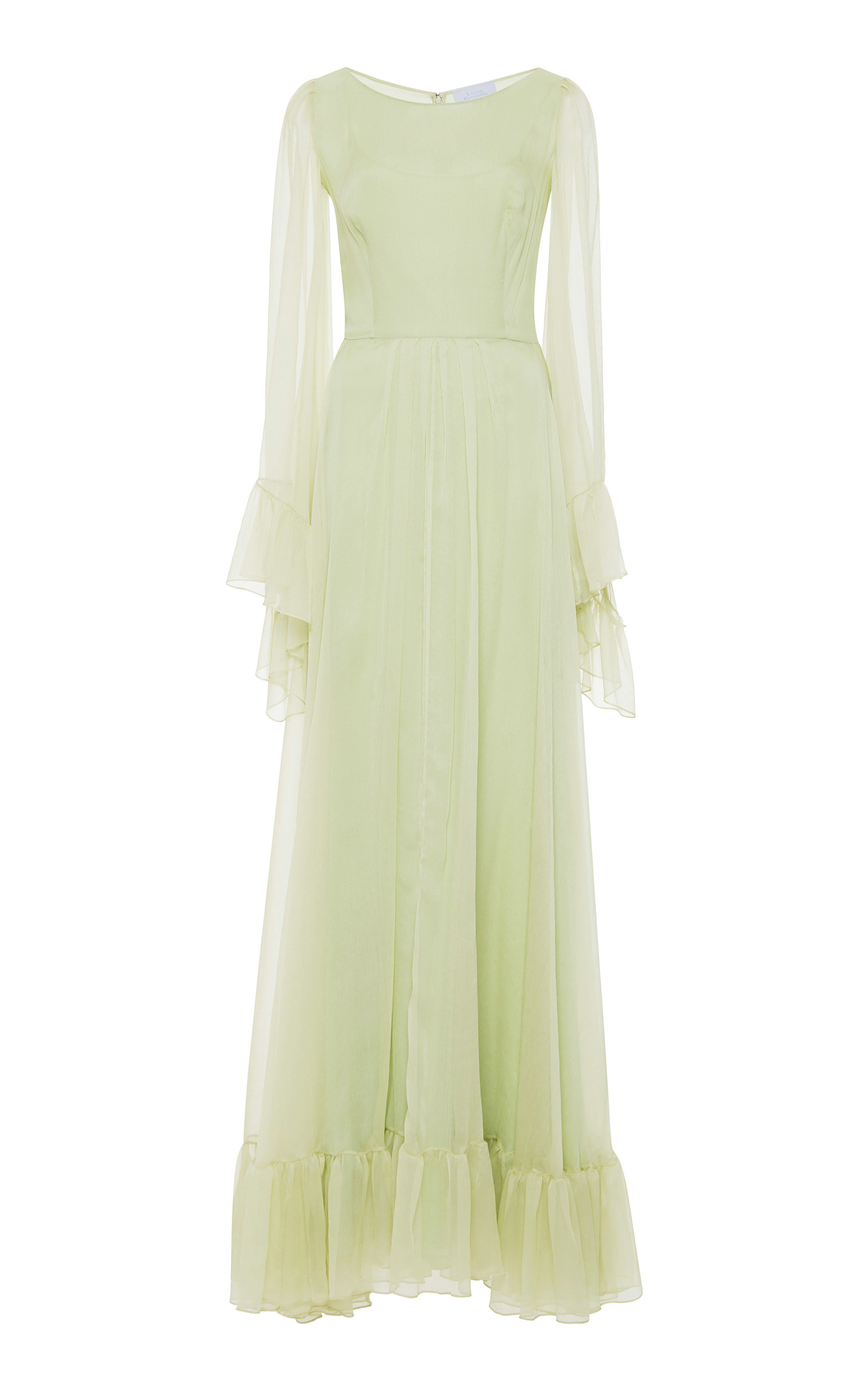 87900baced791 Long Sleeve Chiffon Dress by Luisa Beccaria | Moda Operandi