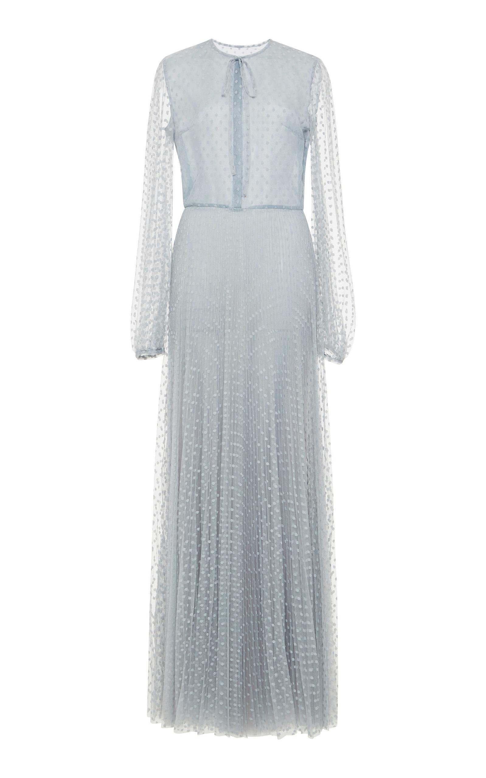539b020fb10f3 Tulle Chemisier Full Length Dress by Luisa Beccaria | Moda Operandi