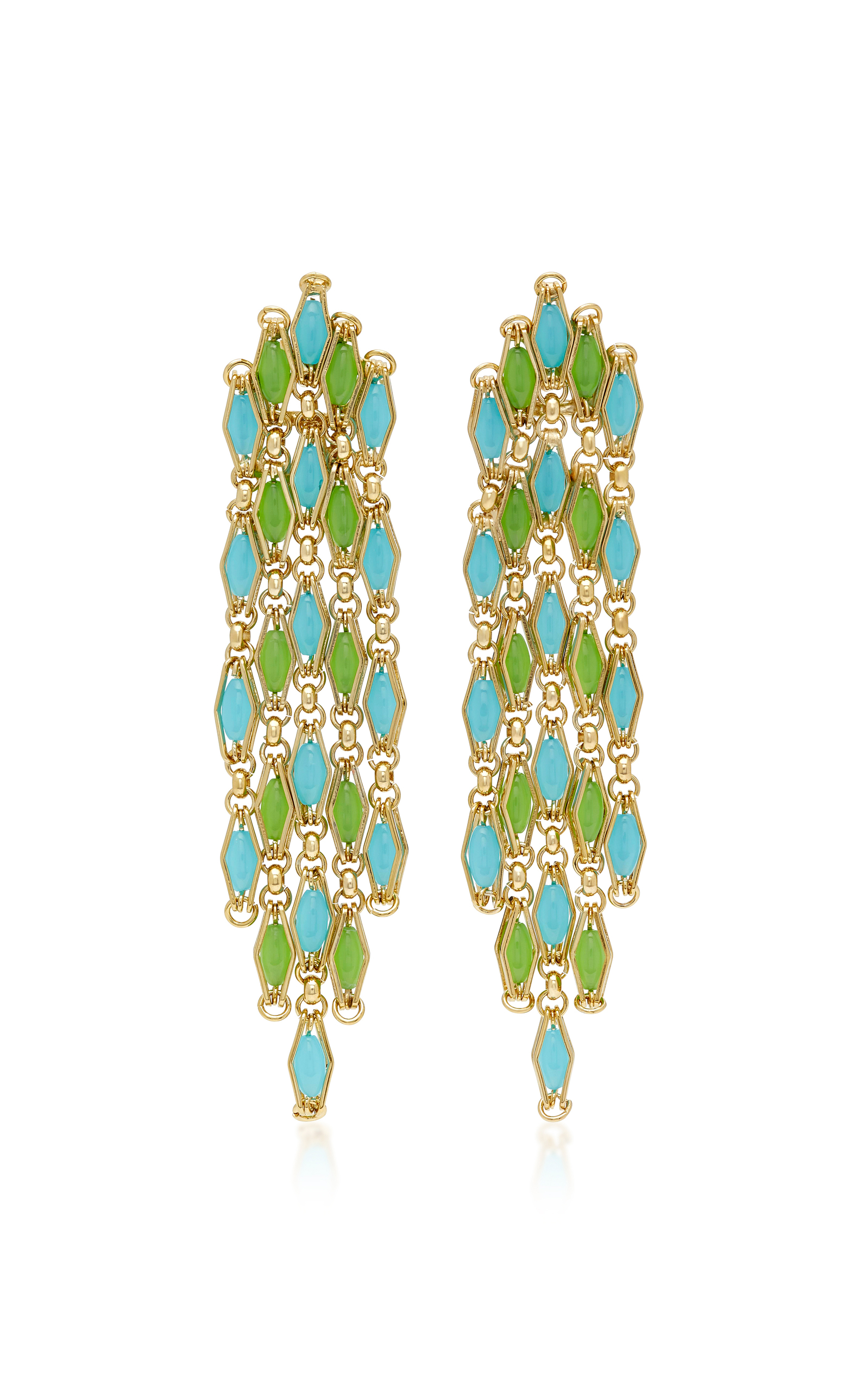 Destino Gold-Tone Brass and Quartz Earrings Rosantica wsoJRT0h