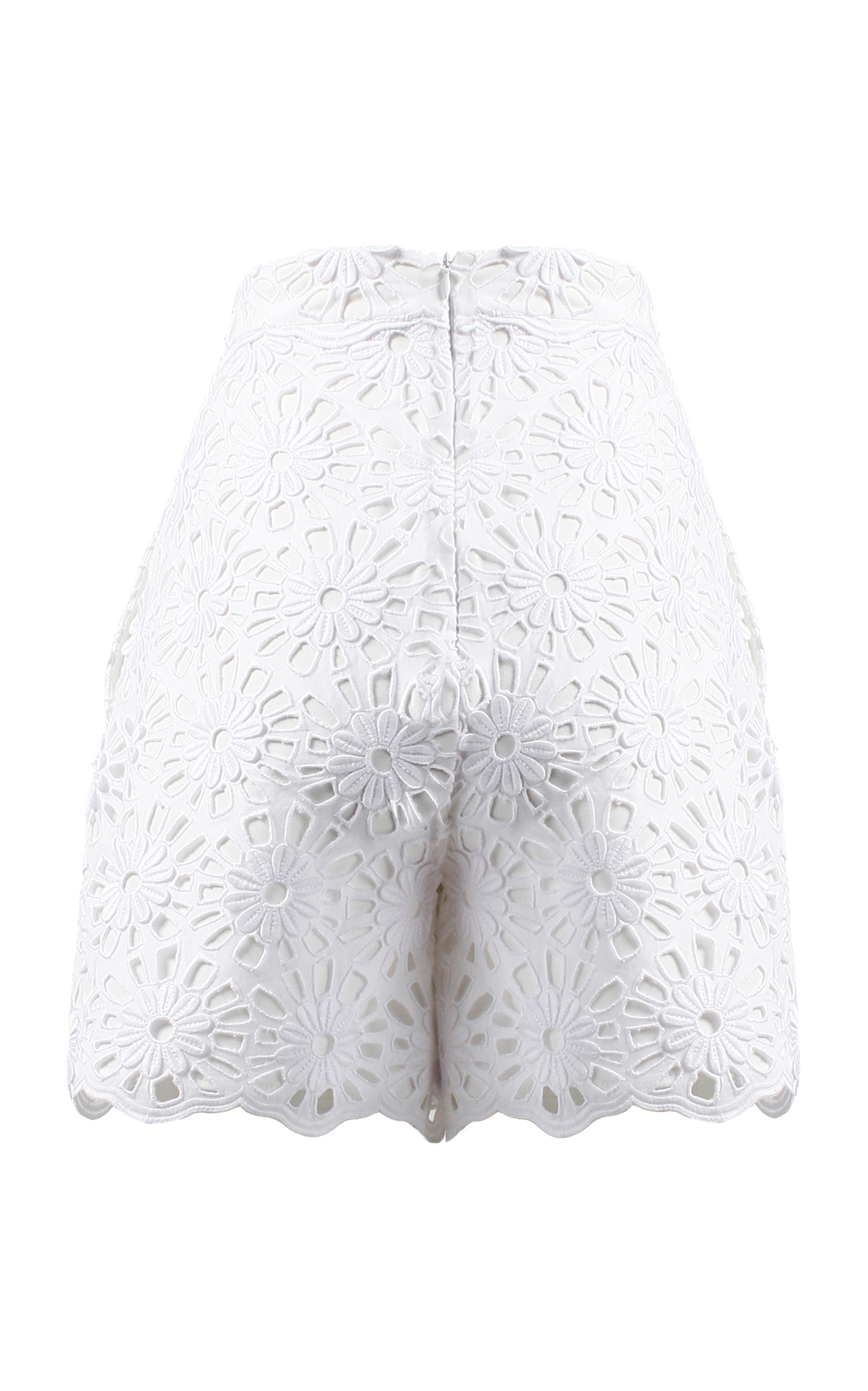 White Flower Lace Shorts by Anouki | Moda Operandi