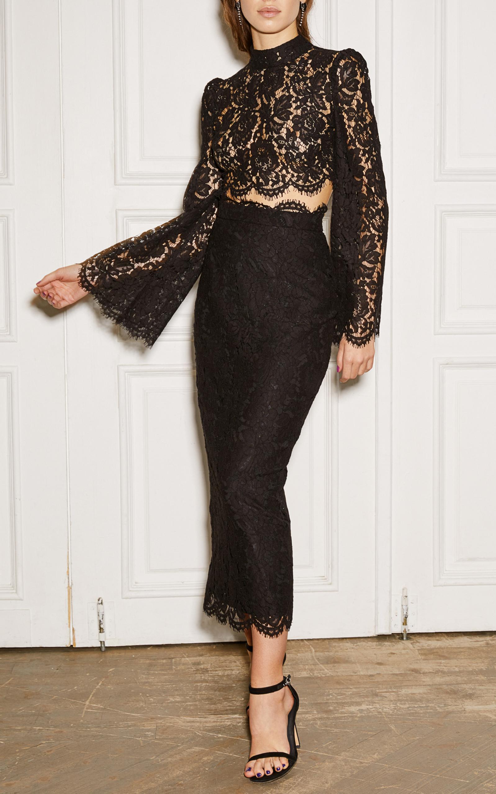 f45401a2c High Waist Lace Skirt by Rasario | Moda Operandi