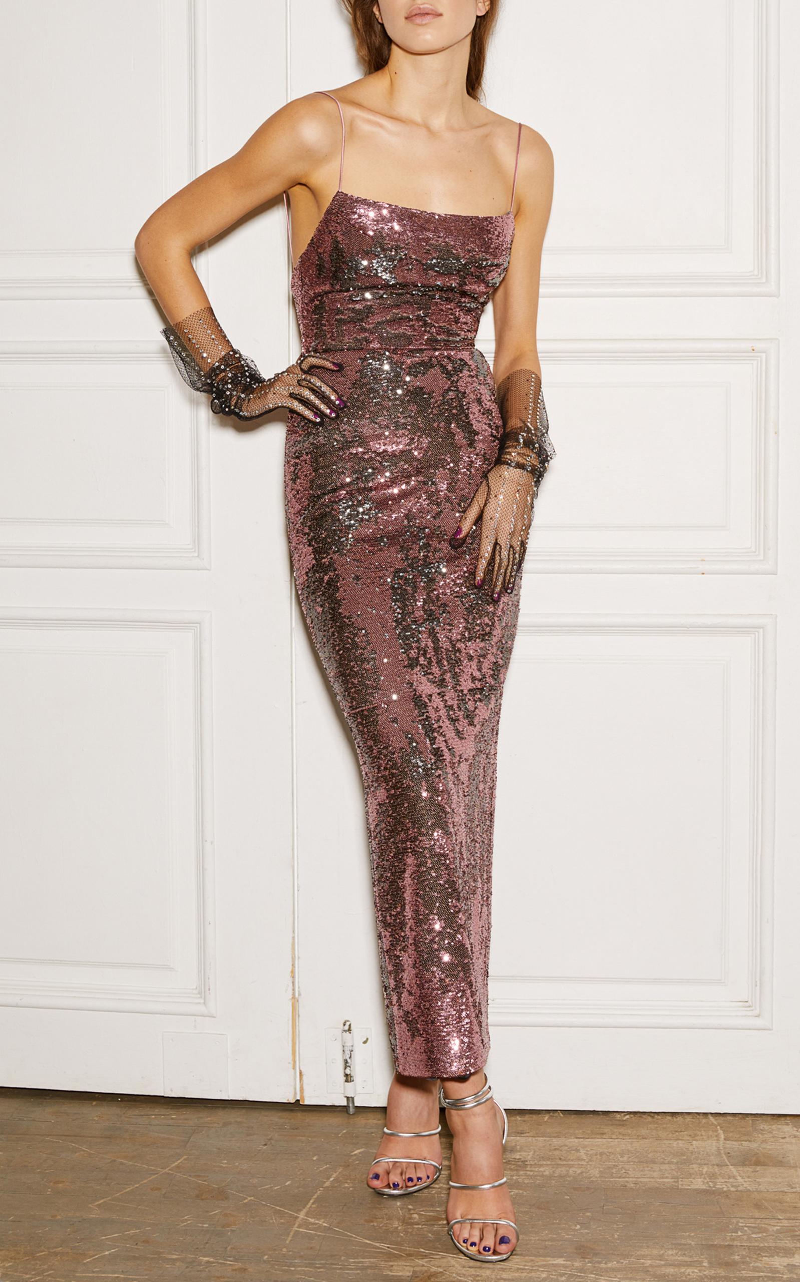 Camisole Sequin Gown by Rasario | Moda Operandi