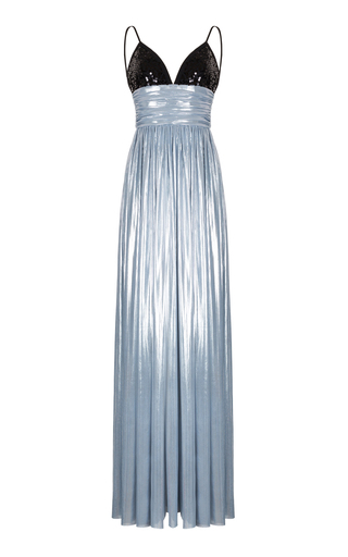 V-Neck Flared Gown by Rasario   Moda Operandi