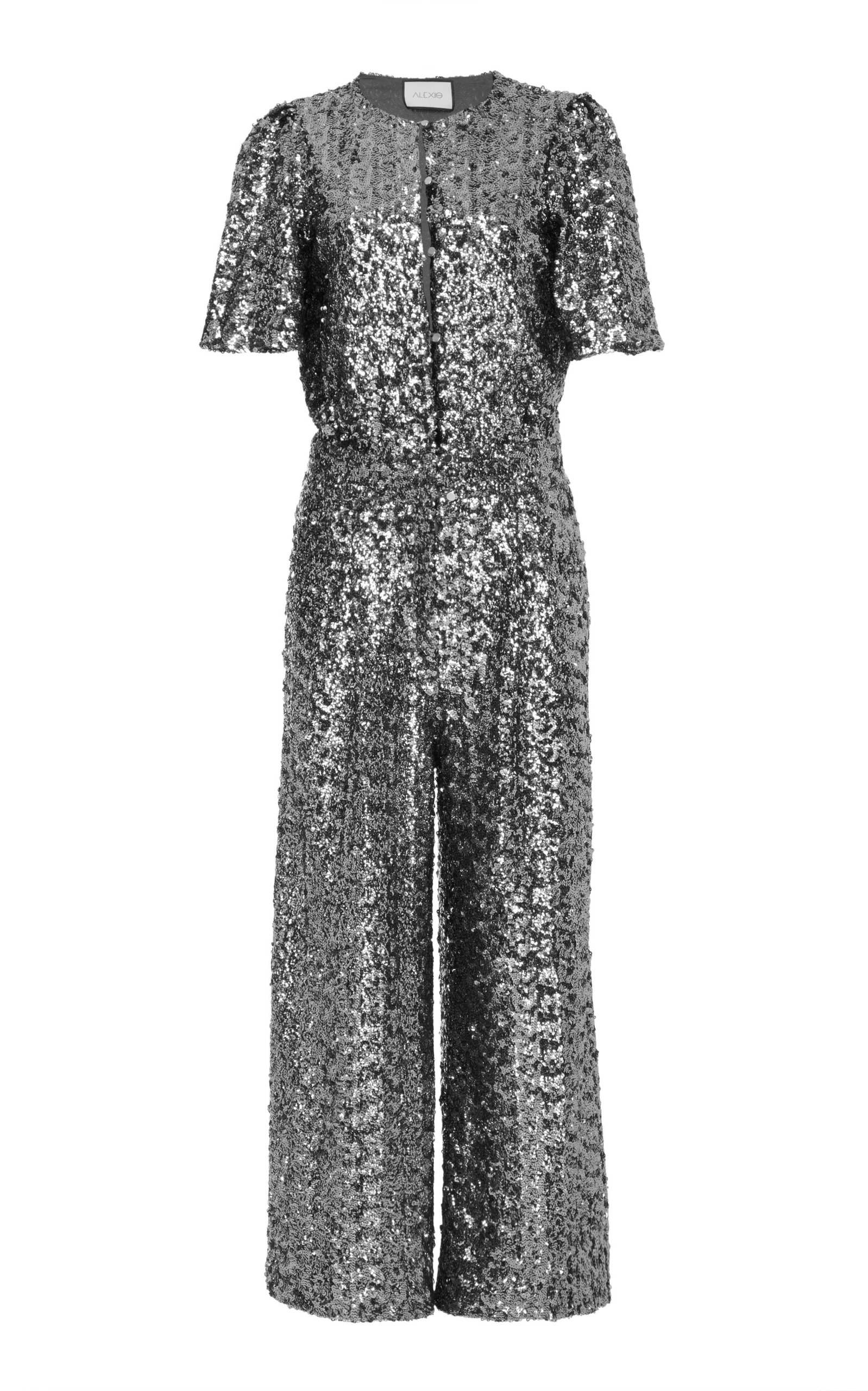 M'O EXCLUSIVE ASLA SEQUIN CROPPED JUMPSUIT