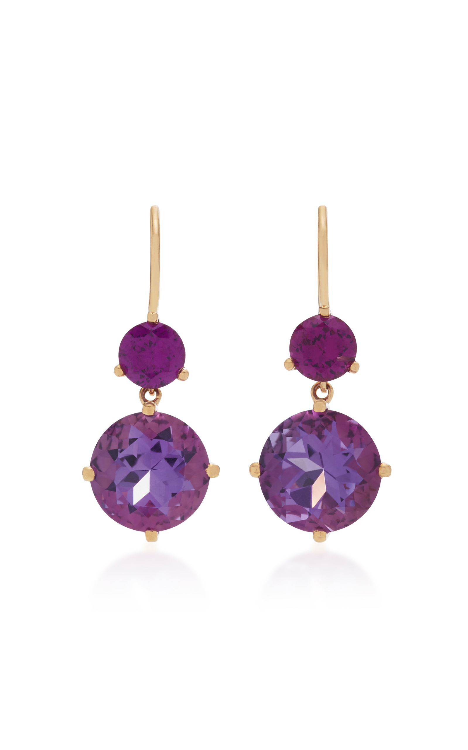 and rhodolite costagli products gold tanzanite earrings garnet rose paolo or