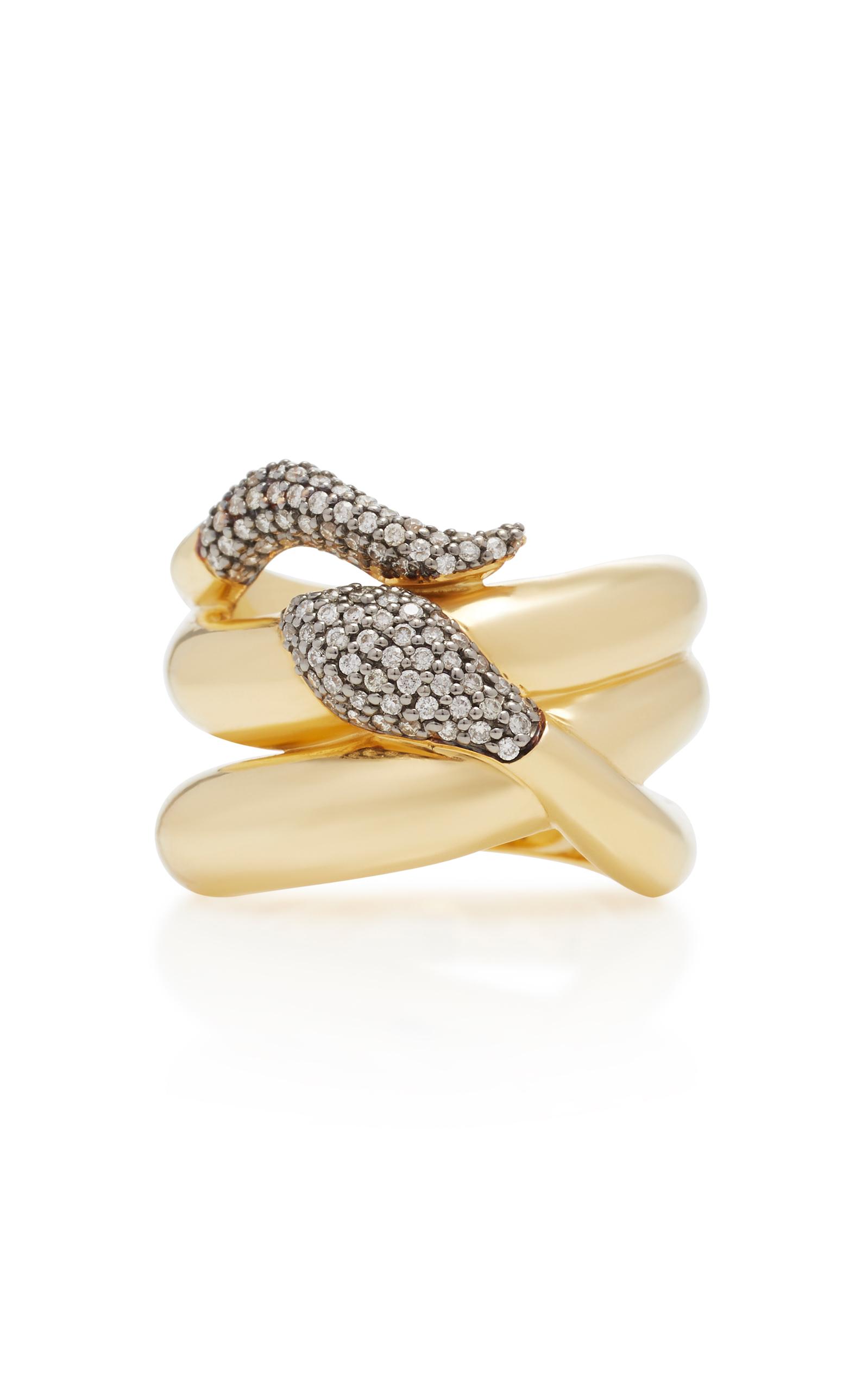 Sorellina 18k Gold Snake Ring Ex7xvP