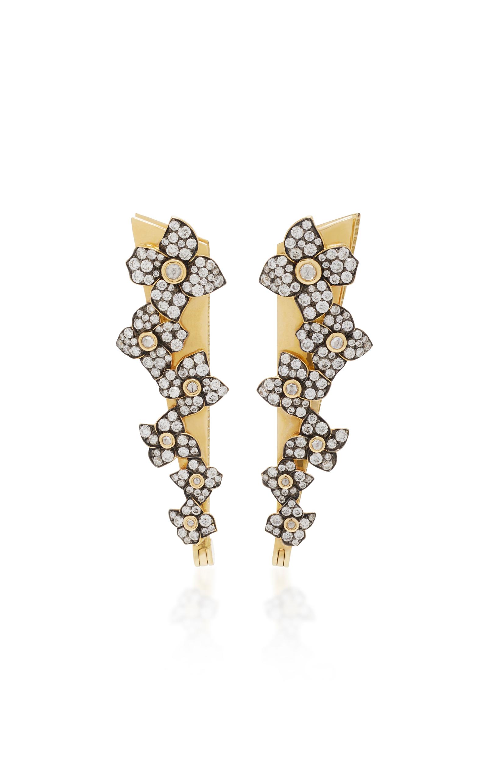 18K Gold Diamond Earrings Sorellina XnOYBwMMK