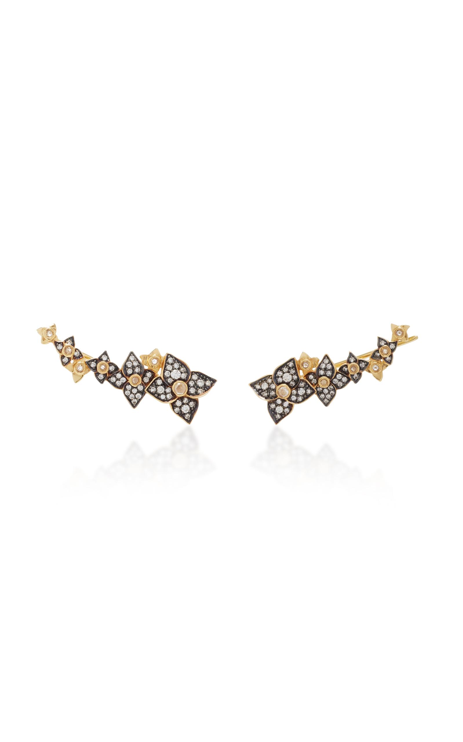 18K Gold Double Hoop Diamond Earrings Sorellina POSzgkRLGx